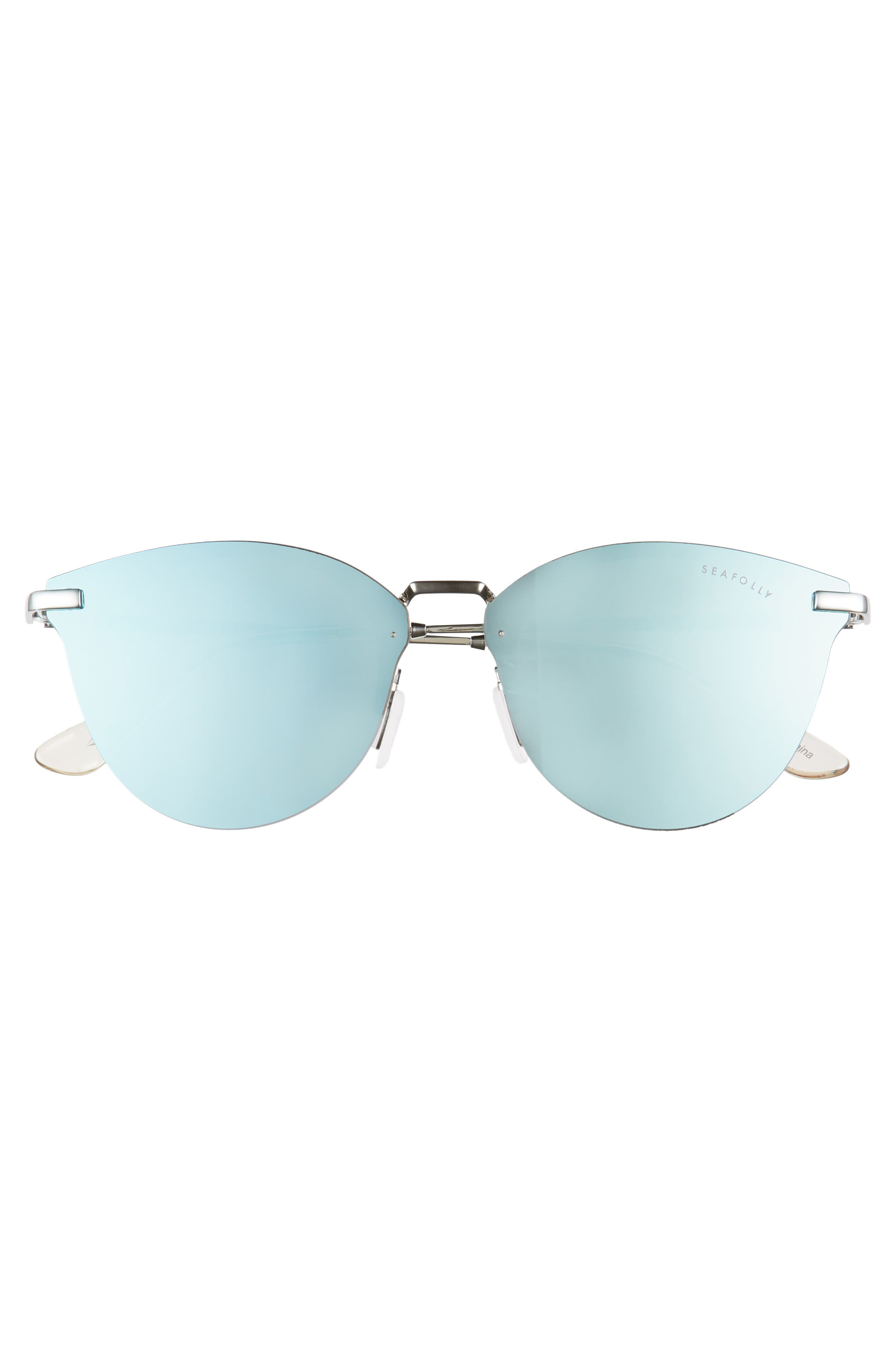 Wylies 50mm Rimless Sunglasses,                             Alternate thumbnail 3, color,                             Ocean