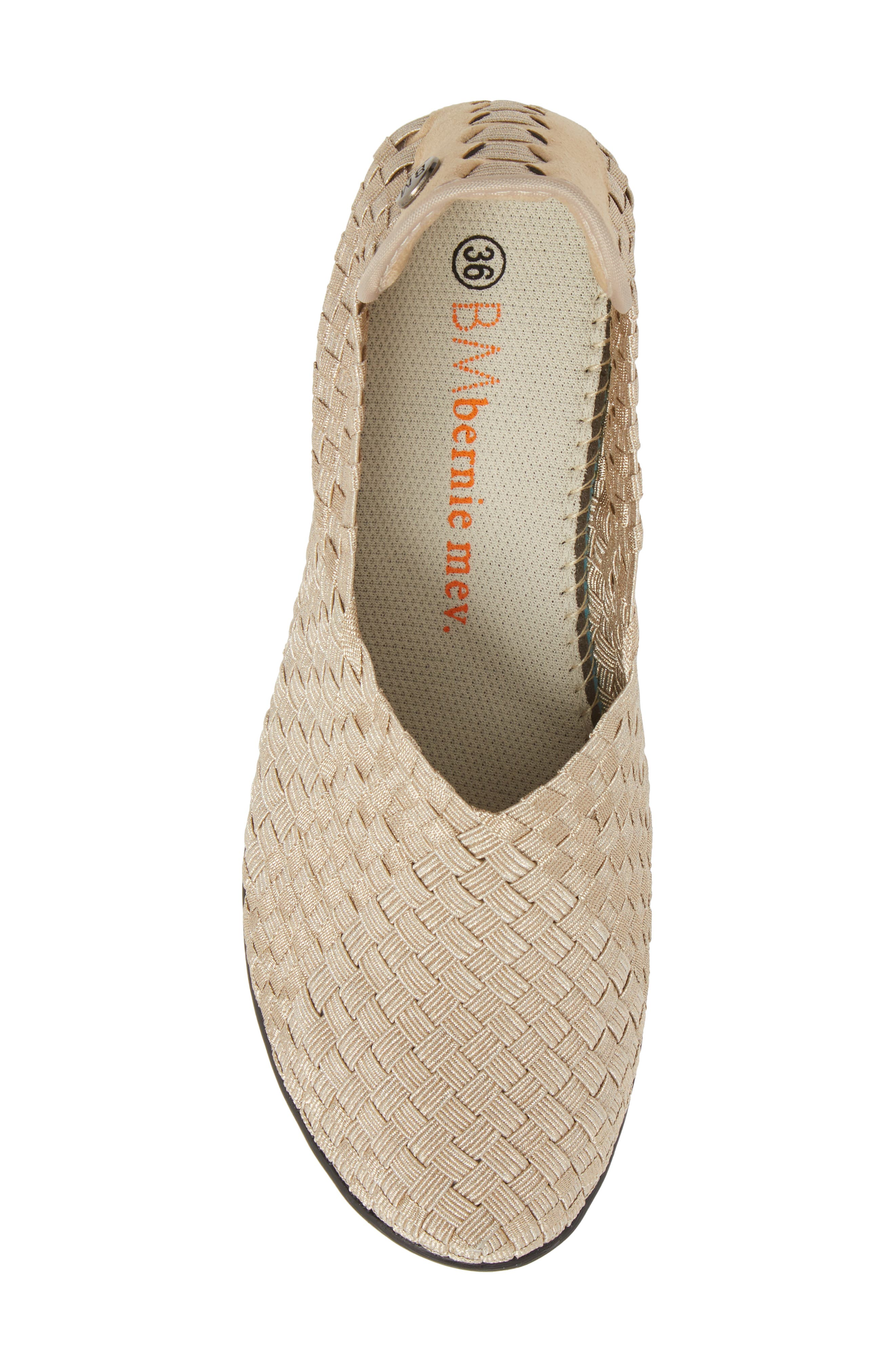 Yael Fly Pump,                             Alternate thumbnail 5, color,                             Light Gold Fabric