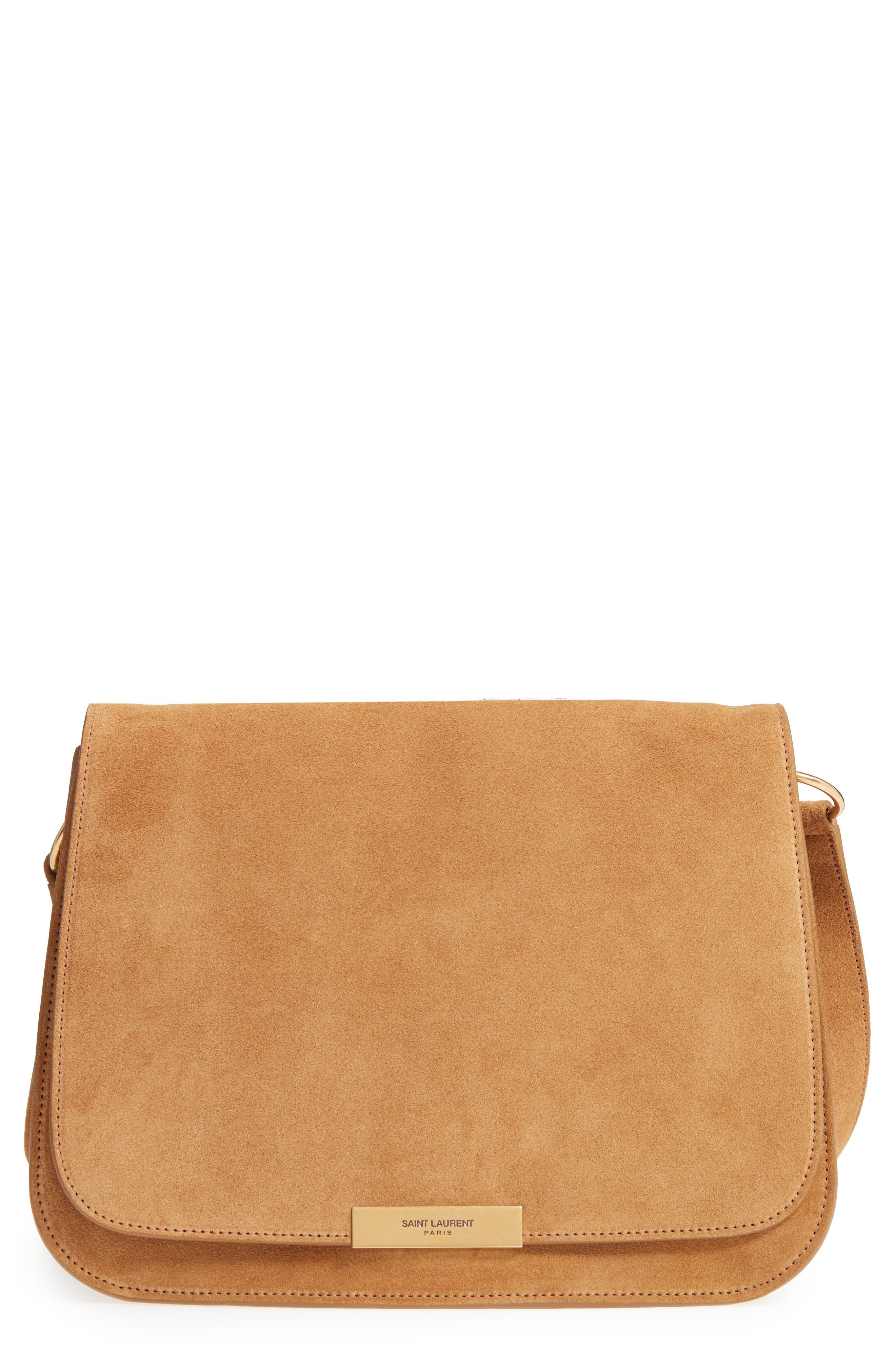 Saint Laurent Amalia Suede Flap Shoulder Bag