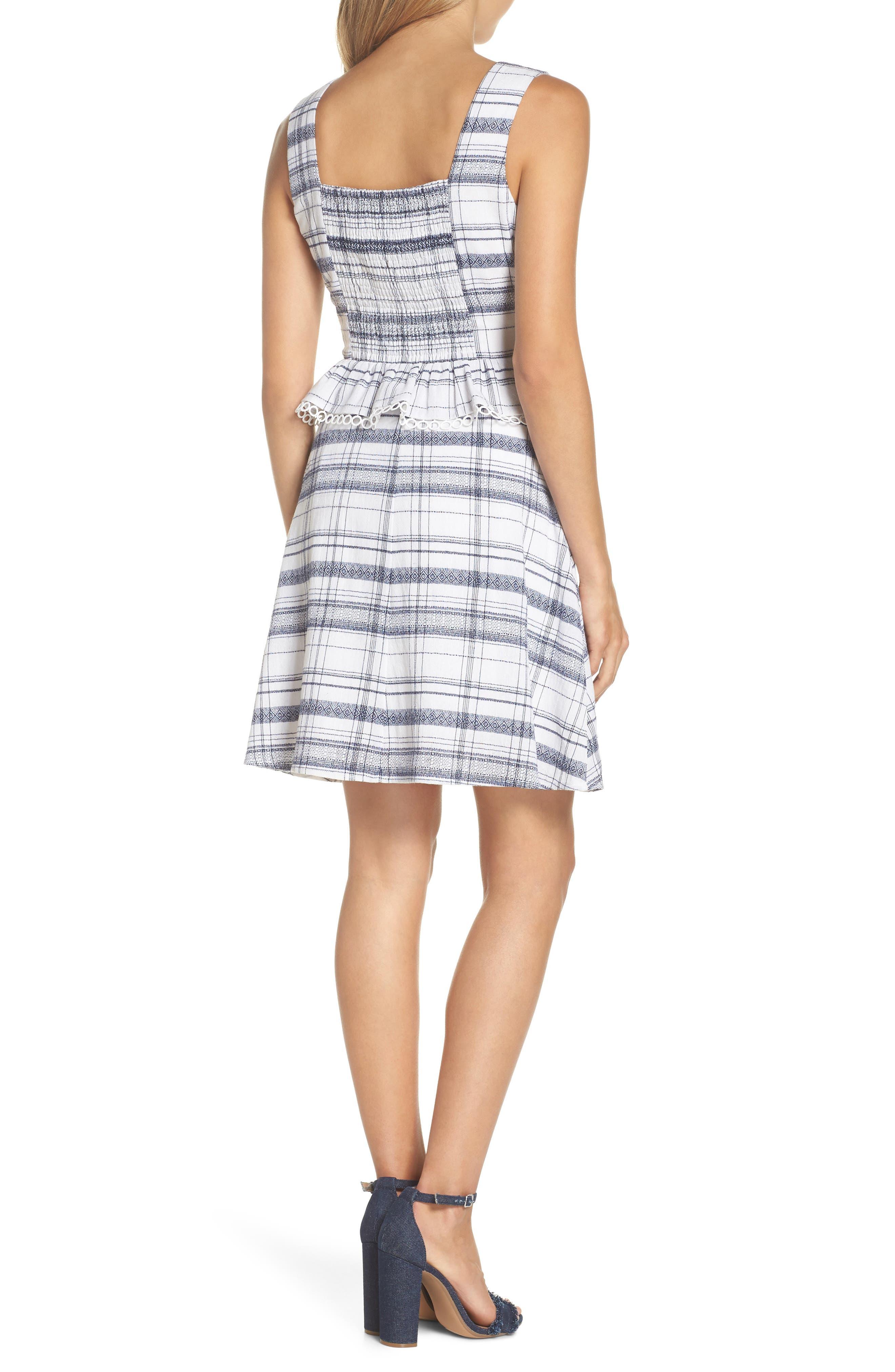 Aubrey Plaid Fit & Flare Dress,                             Alternate thumbnail 2, color,                             Multi