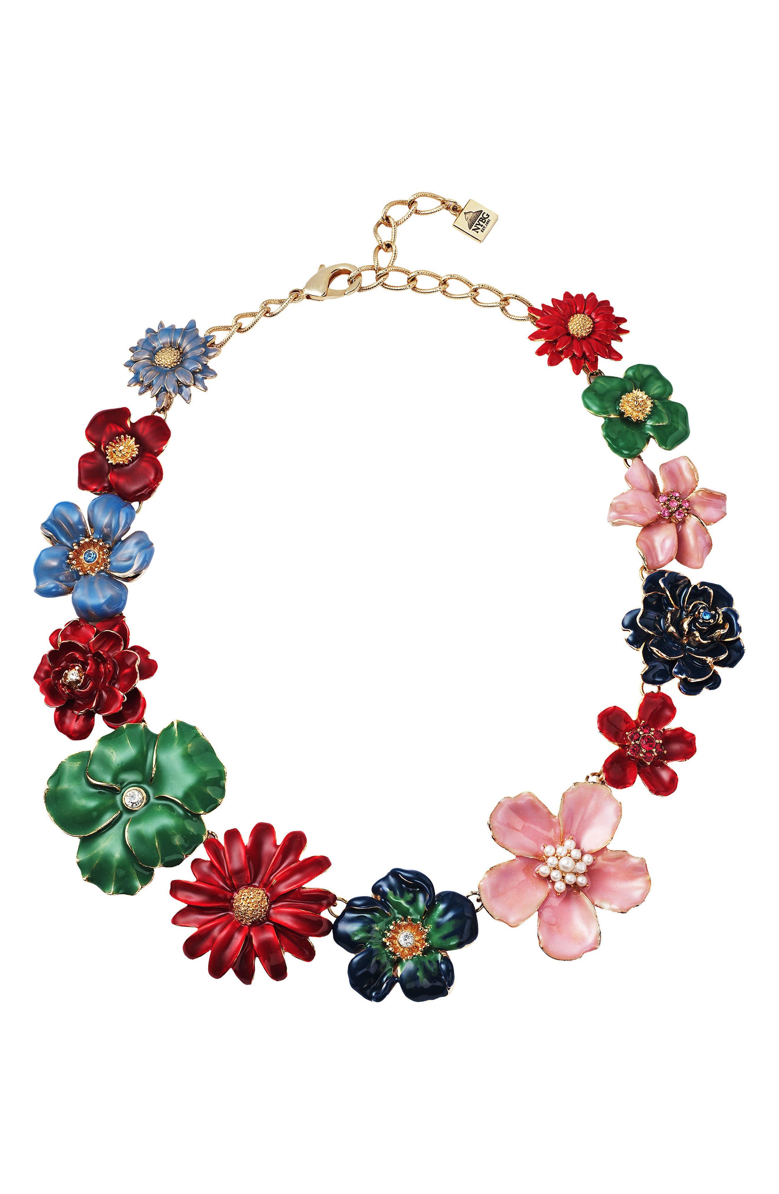 Garden Necklace,                             Main thumbnail 1, color,                             Multi