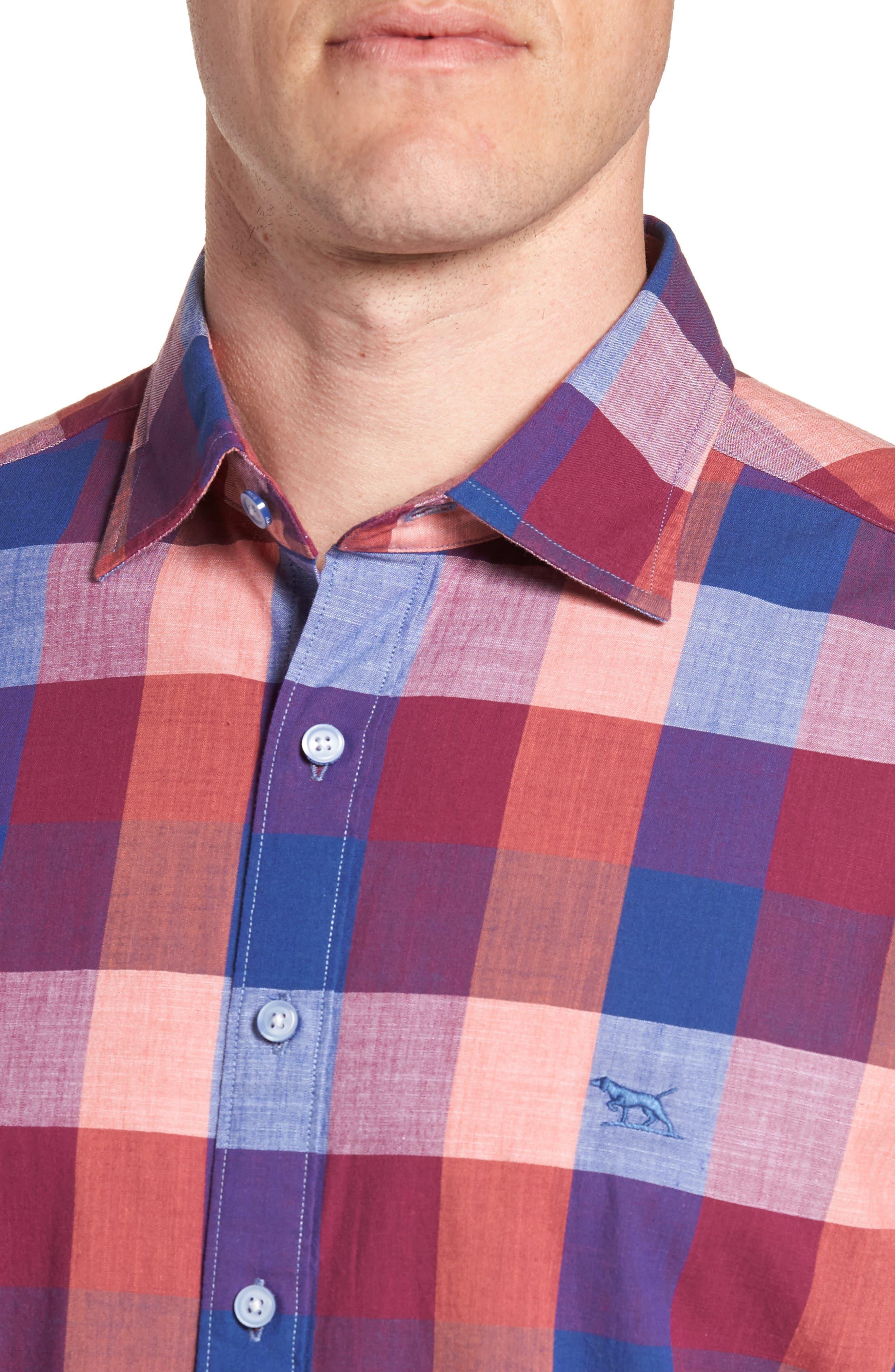 Knighton Regular Fit Sport Shirt,                             Alternate thumbnail 2, color,                             Berry