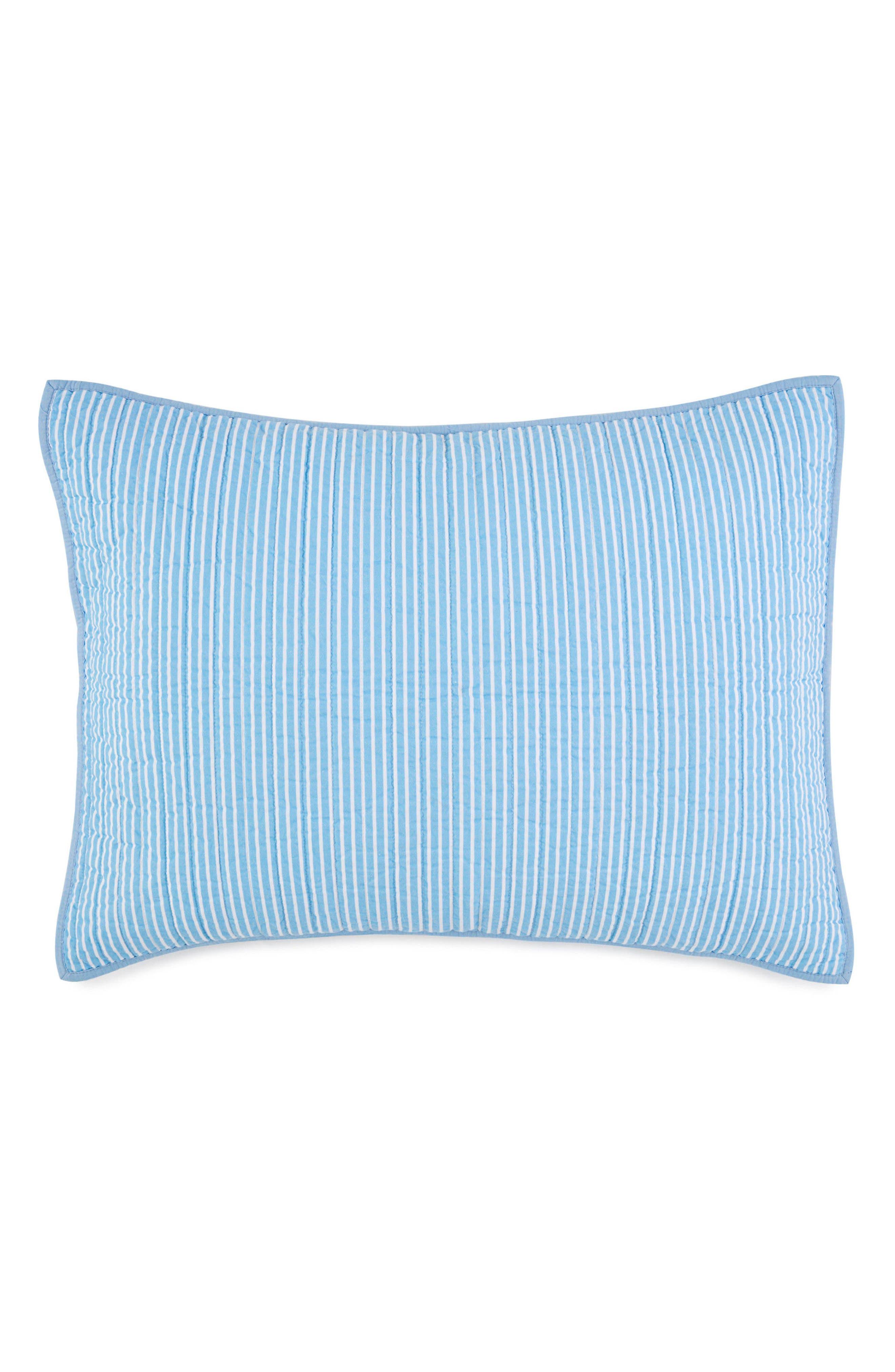 Sail Stripe Sham,                             Main thumbnail 1, color,                             Blue Multi