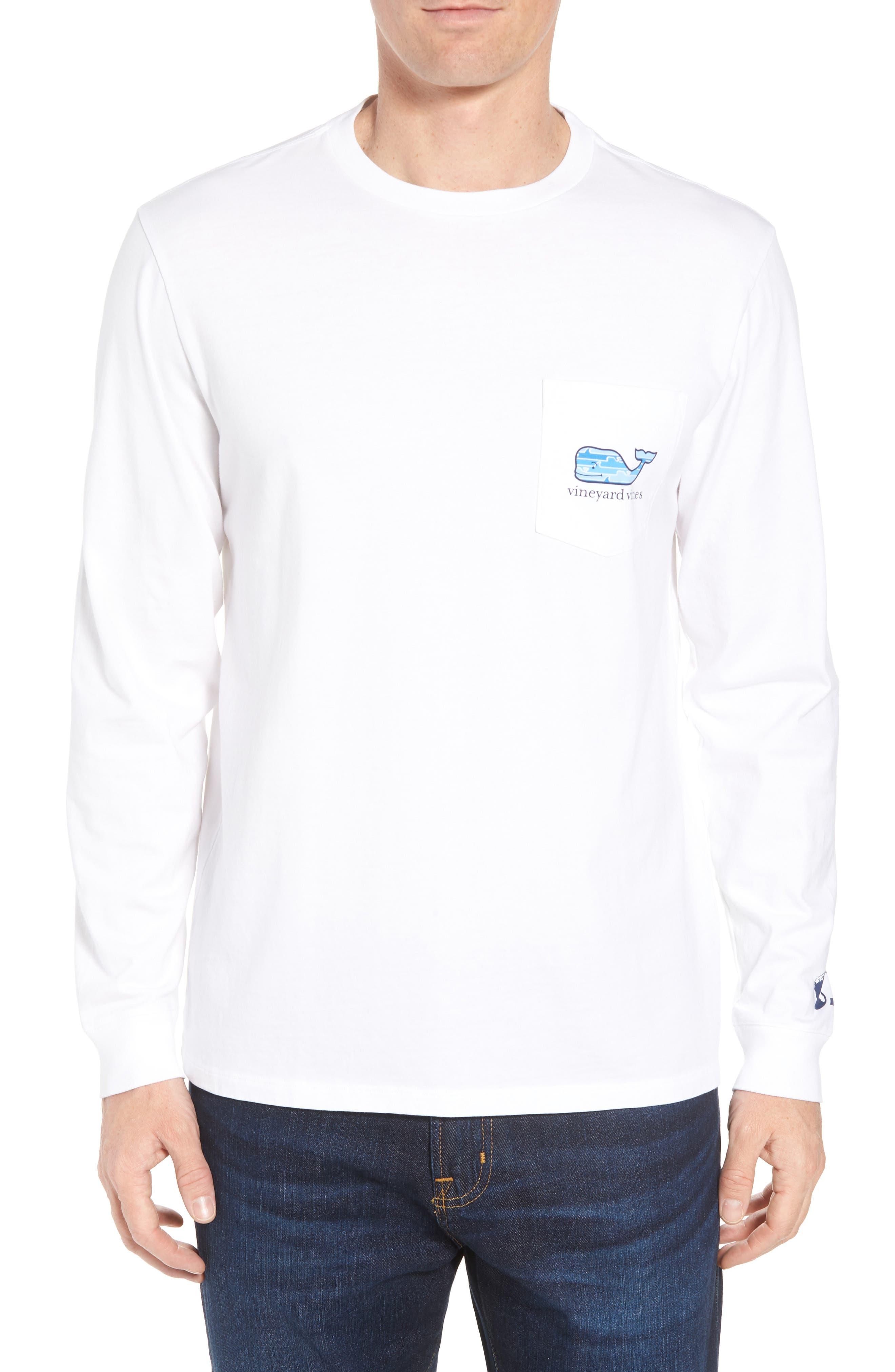 x Shark Week<sup>™</sup> Whaleline Long Sleeve Pocket T-Shirt,                         Main,                         color, White Cap