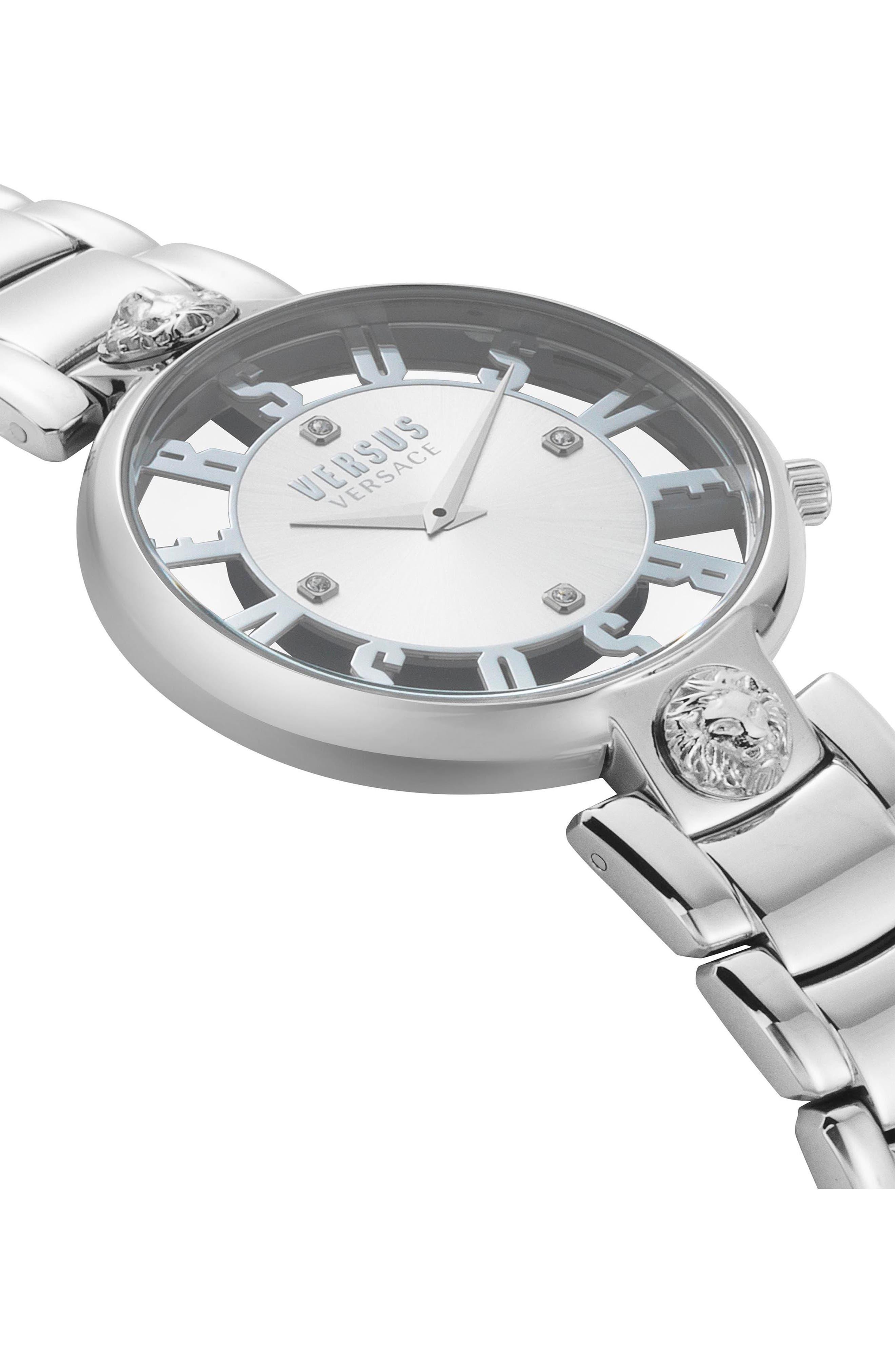VERSUS by Versace Kristenhof Bracelet Watch, 34mm,                             Alternate thumbnail 3, color,                             Silver