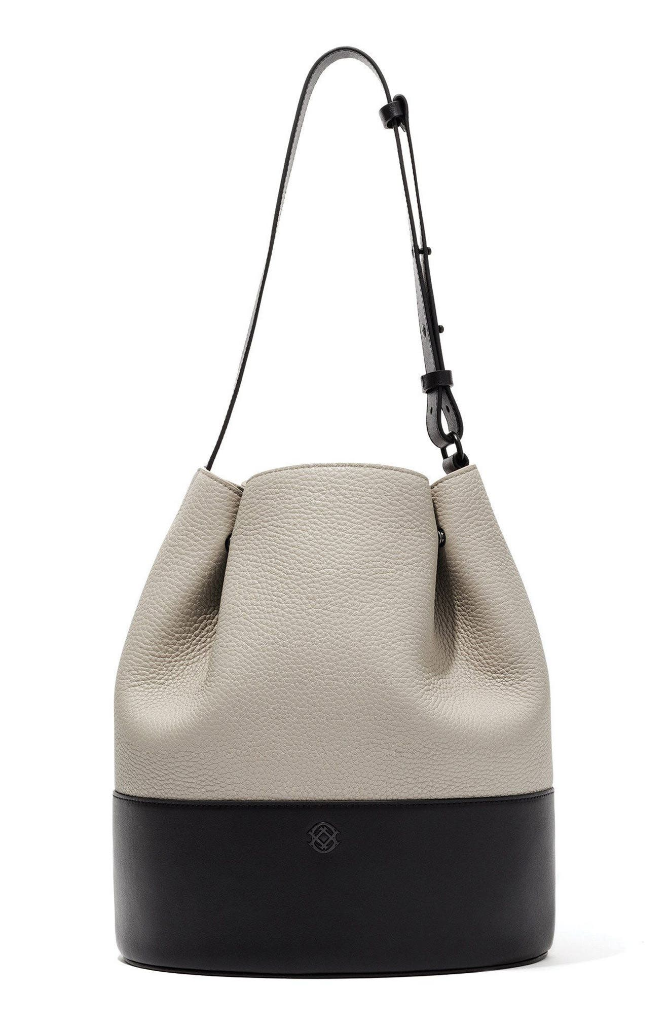 Dagne Dover Ava Leather Bucket Bag