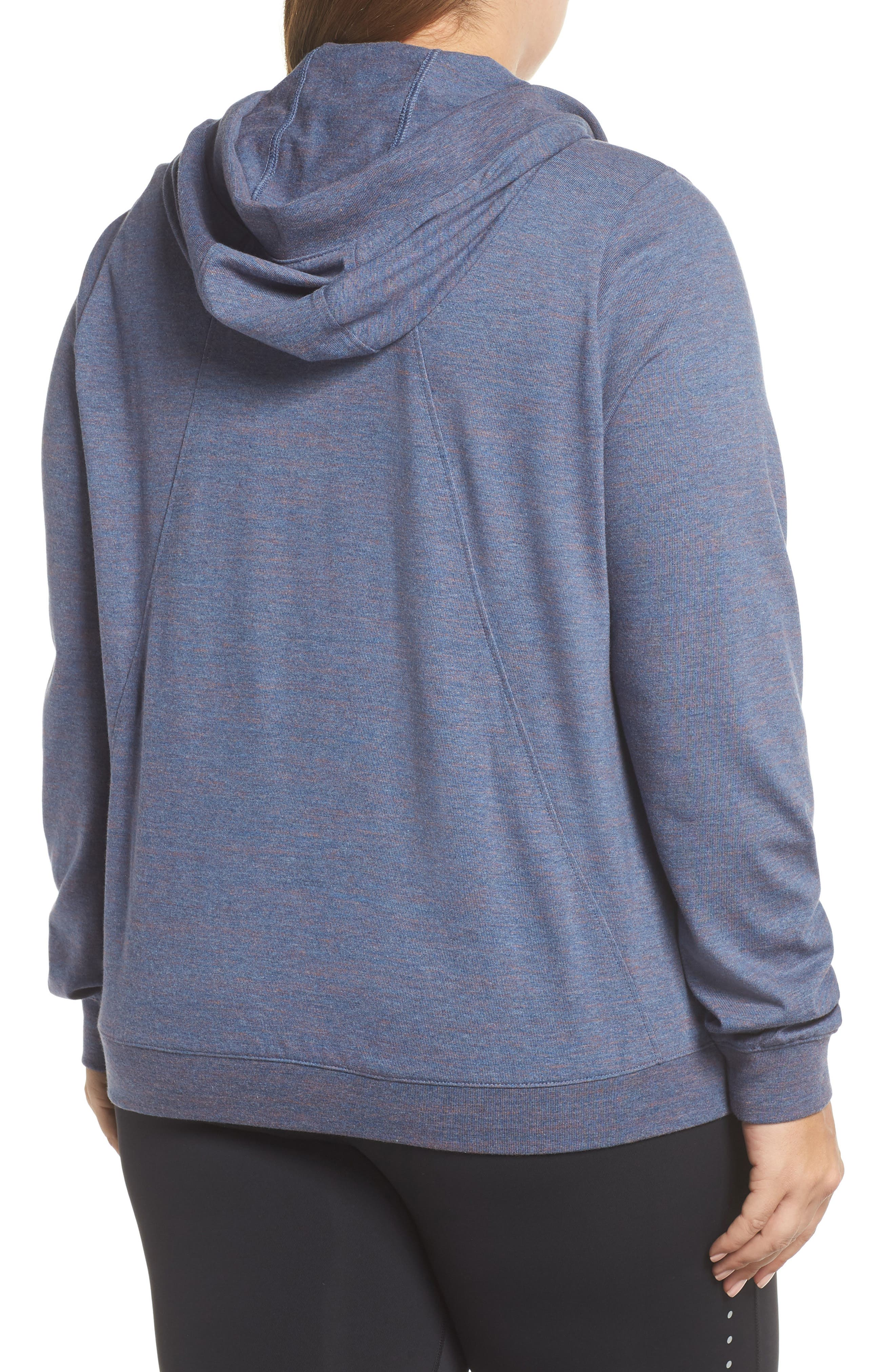 Gym Zip Hoodie,                             Alternate thumbnail 2, color,                             Diffused Blue/ Heather/ Sail