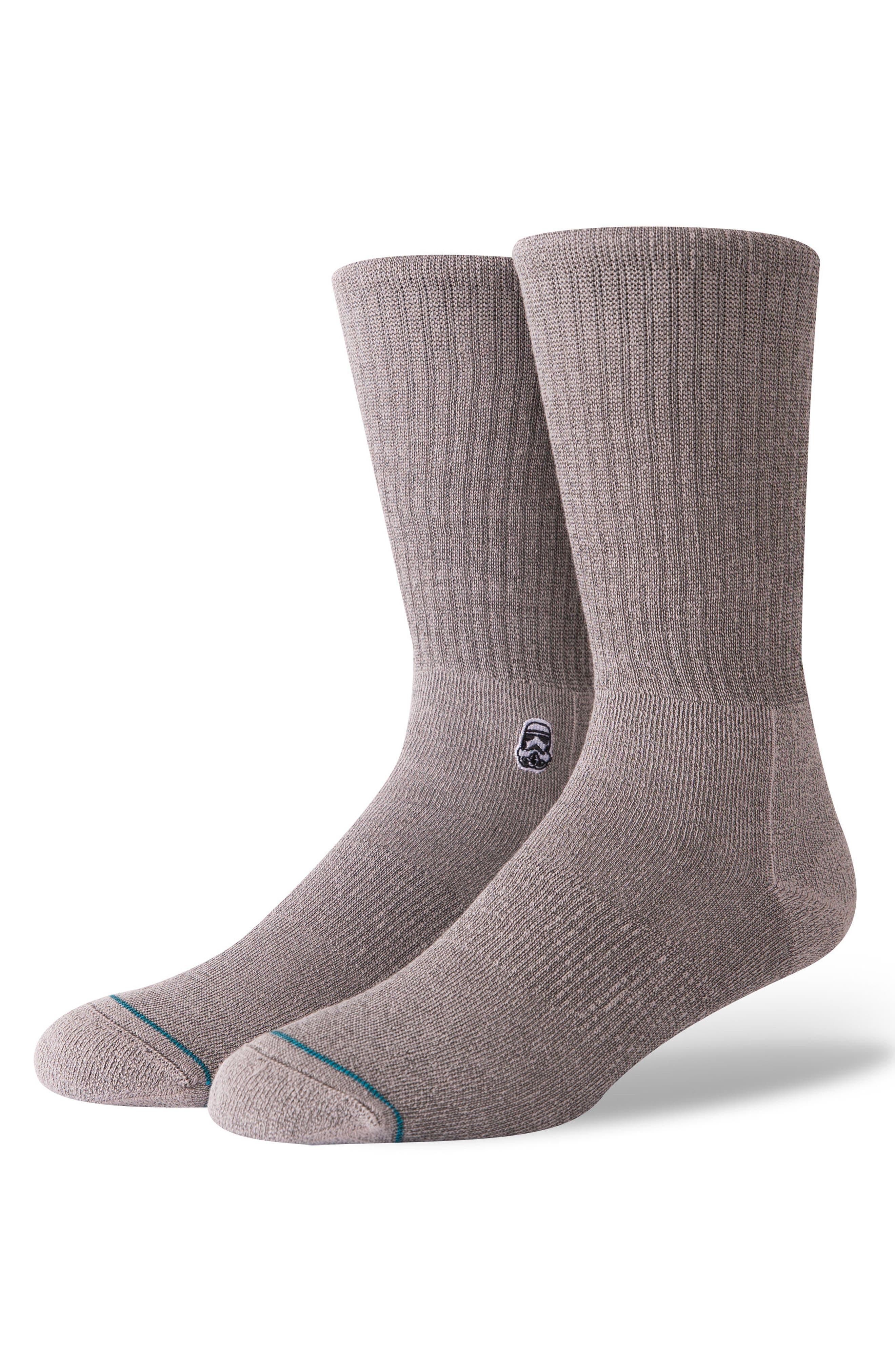 Star Wars Solid Trooper Socks,                         Main,                         color, Black