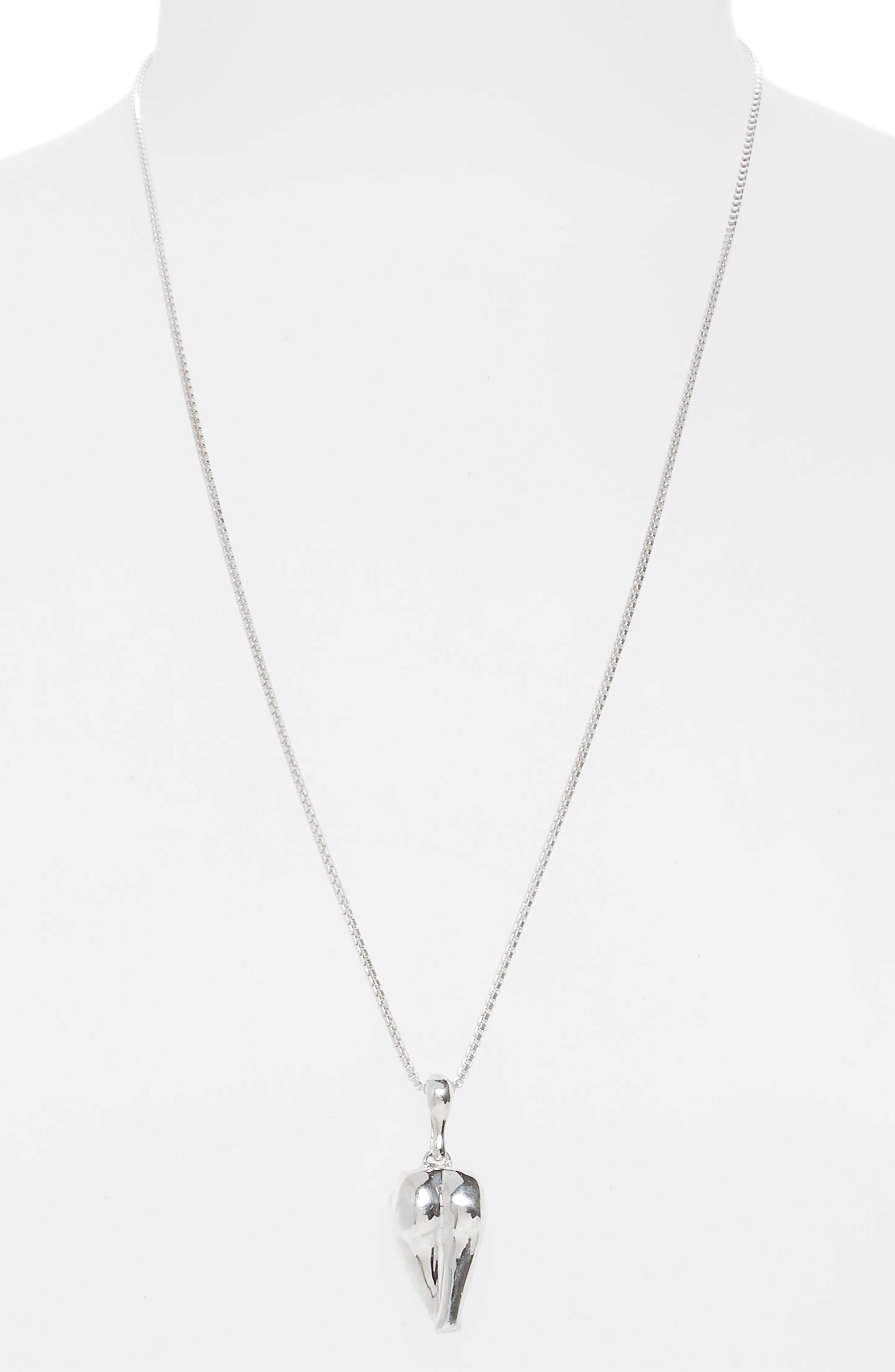 Derrière Necklace,                         Main,                         color, Sterling Silver