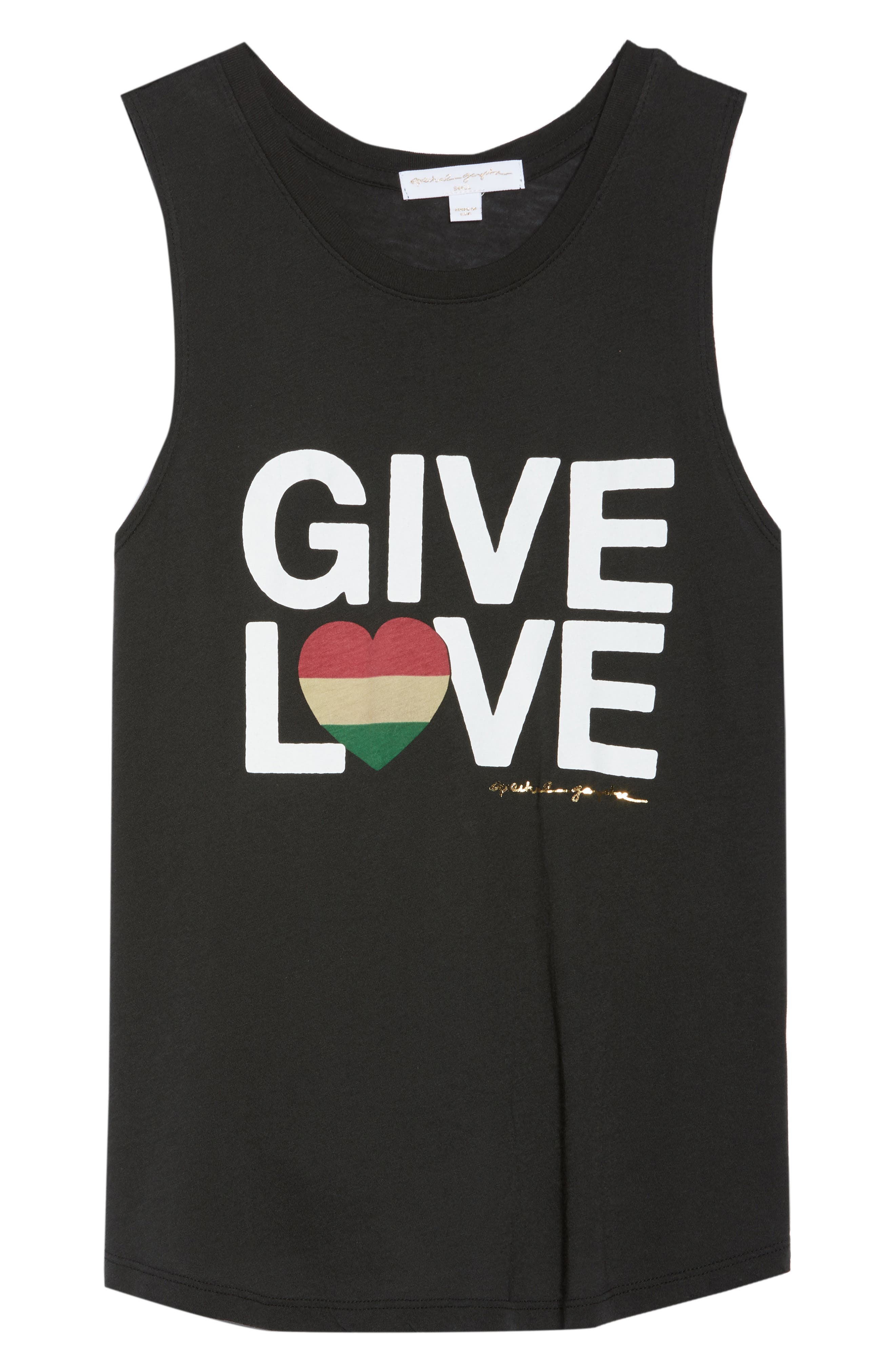 Give Love Muscle Tee,                             Alternate thumbnail 7, color,                             Vntg Black