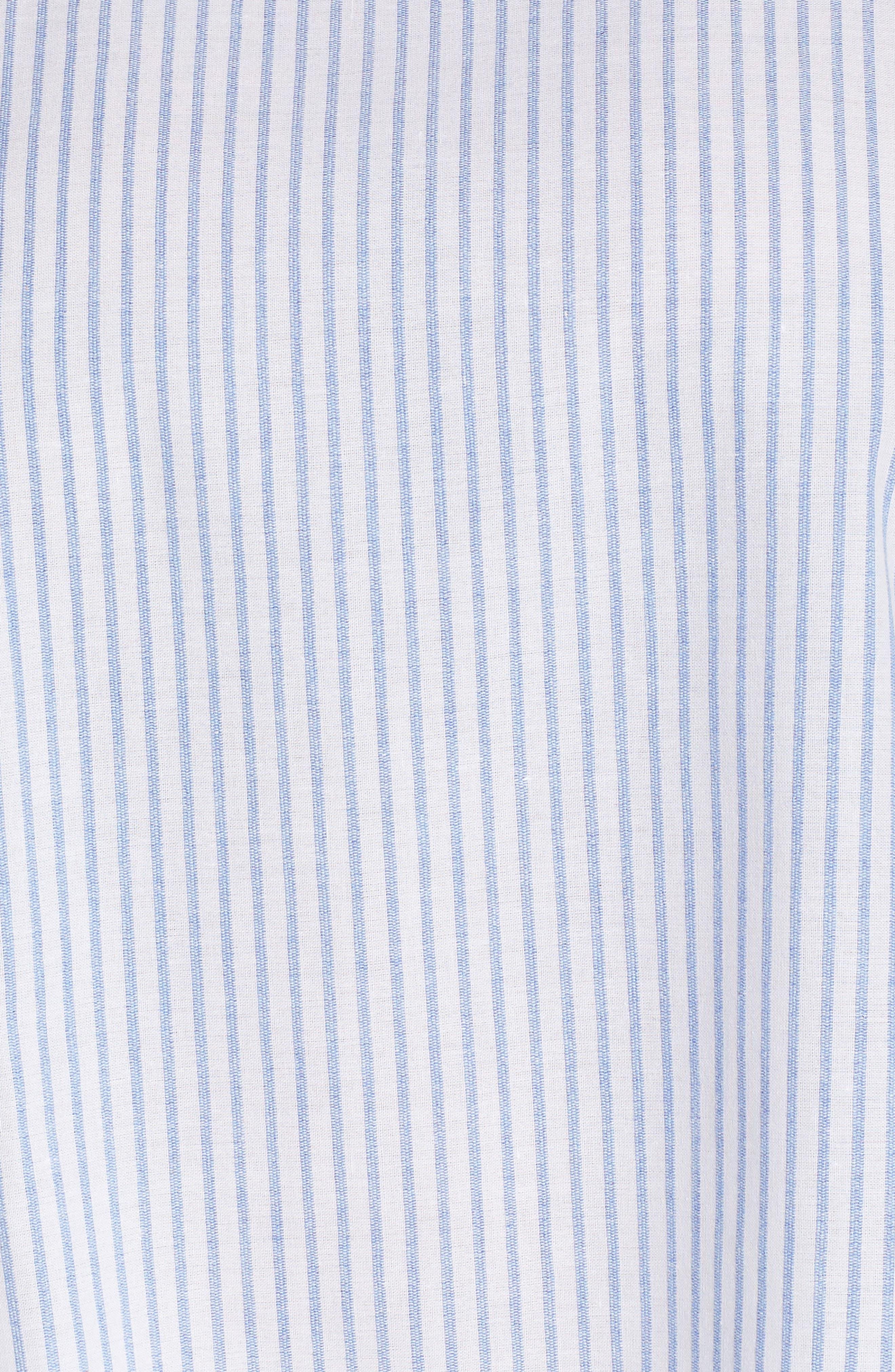 Cold Shoulder Stripe Top,                             Alternate thumbnail 6, color,                             Stripe Print