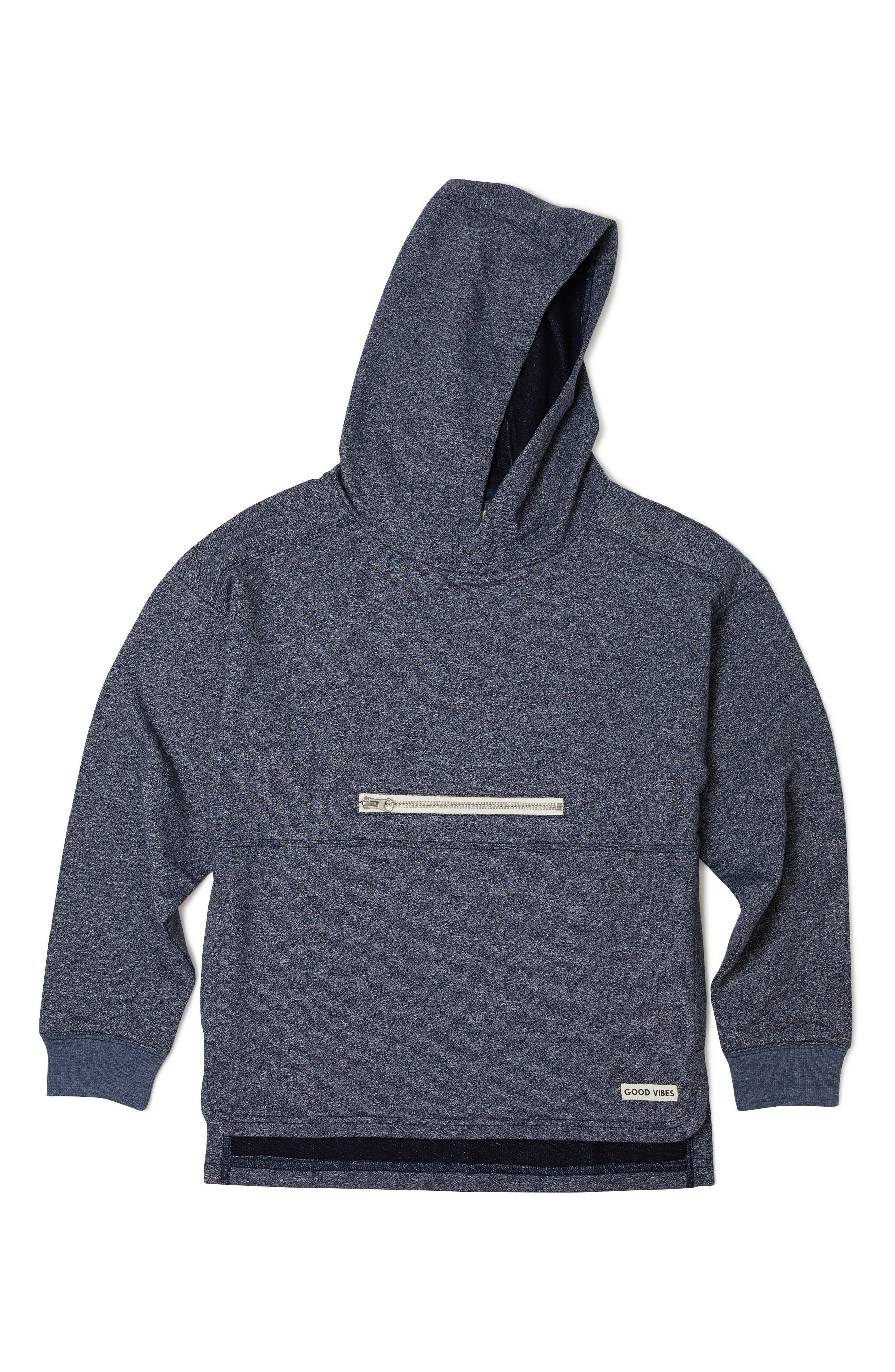 Cruise Hoodie,                         Main,                         color, Heather Navy