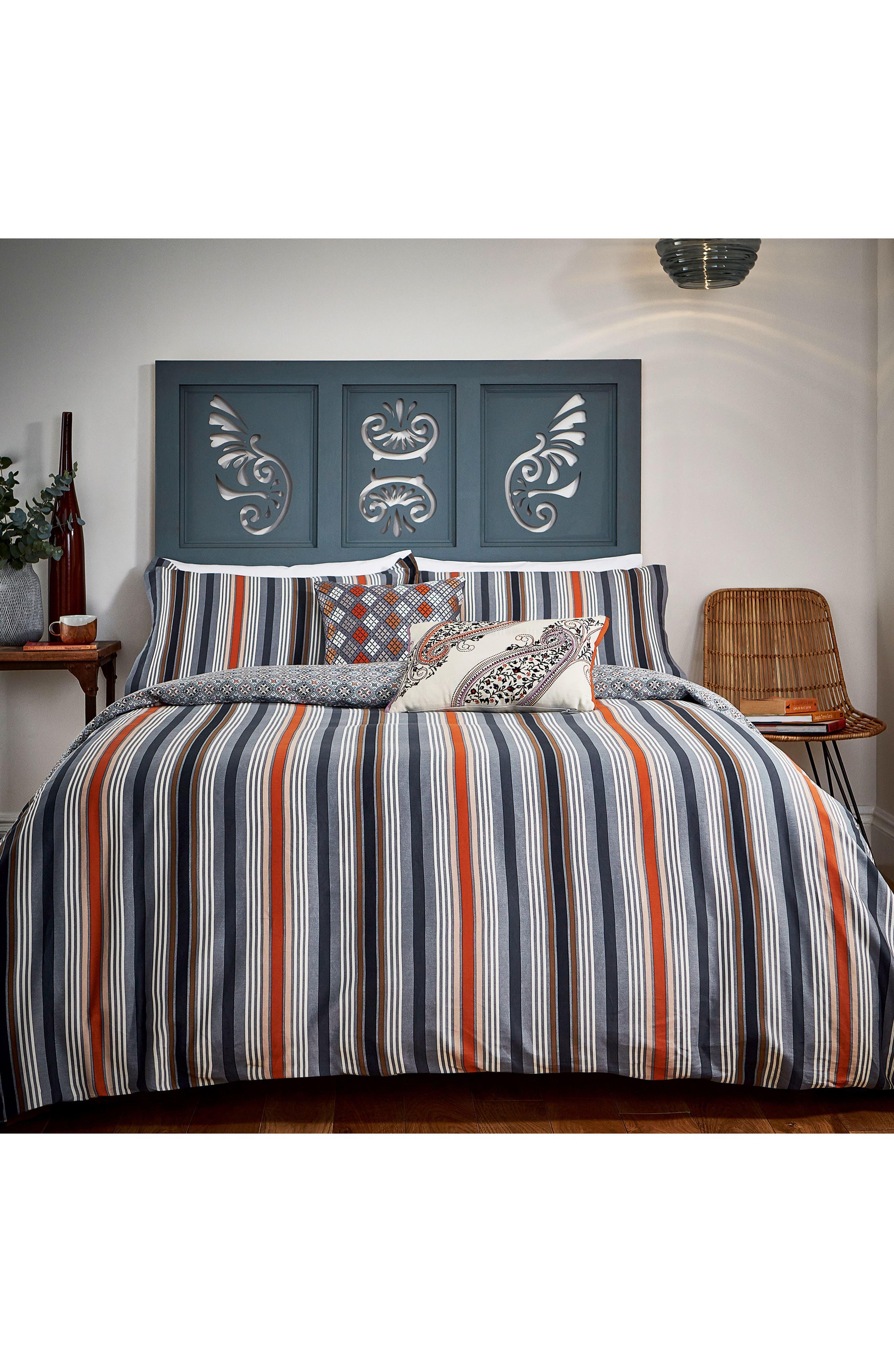 Alba Duvet Cover, Sham & Accent Pillow Set,                             Main thumbnail 1, color,                             Blue