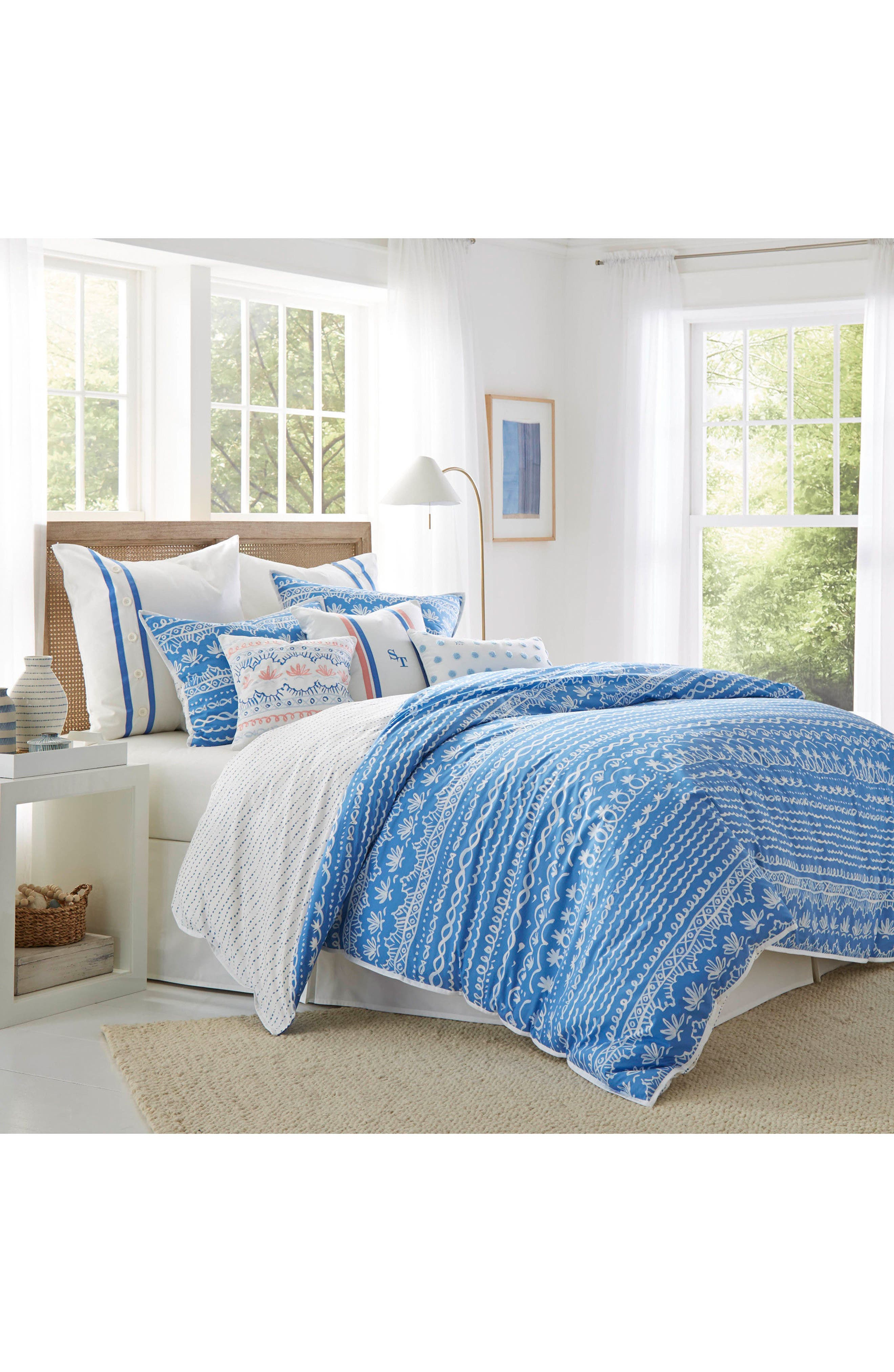 Summer Daze Comforter Set,                         Main,                         color, Blue
