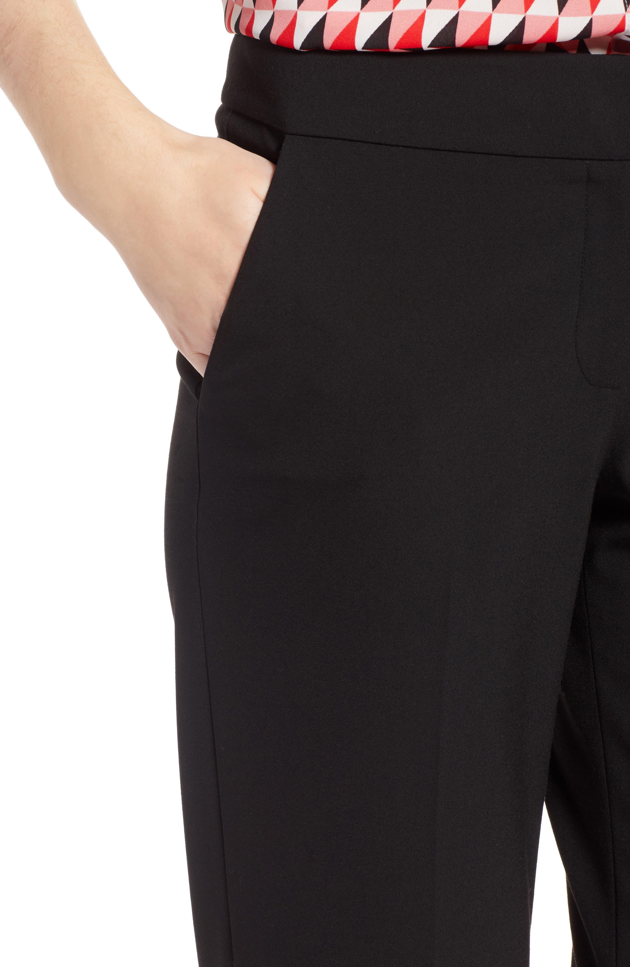 Stovepipe Pants,                             Alternate thumbnail 4, color,                             Black