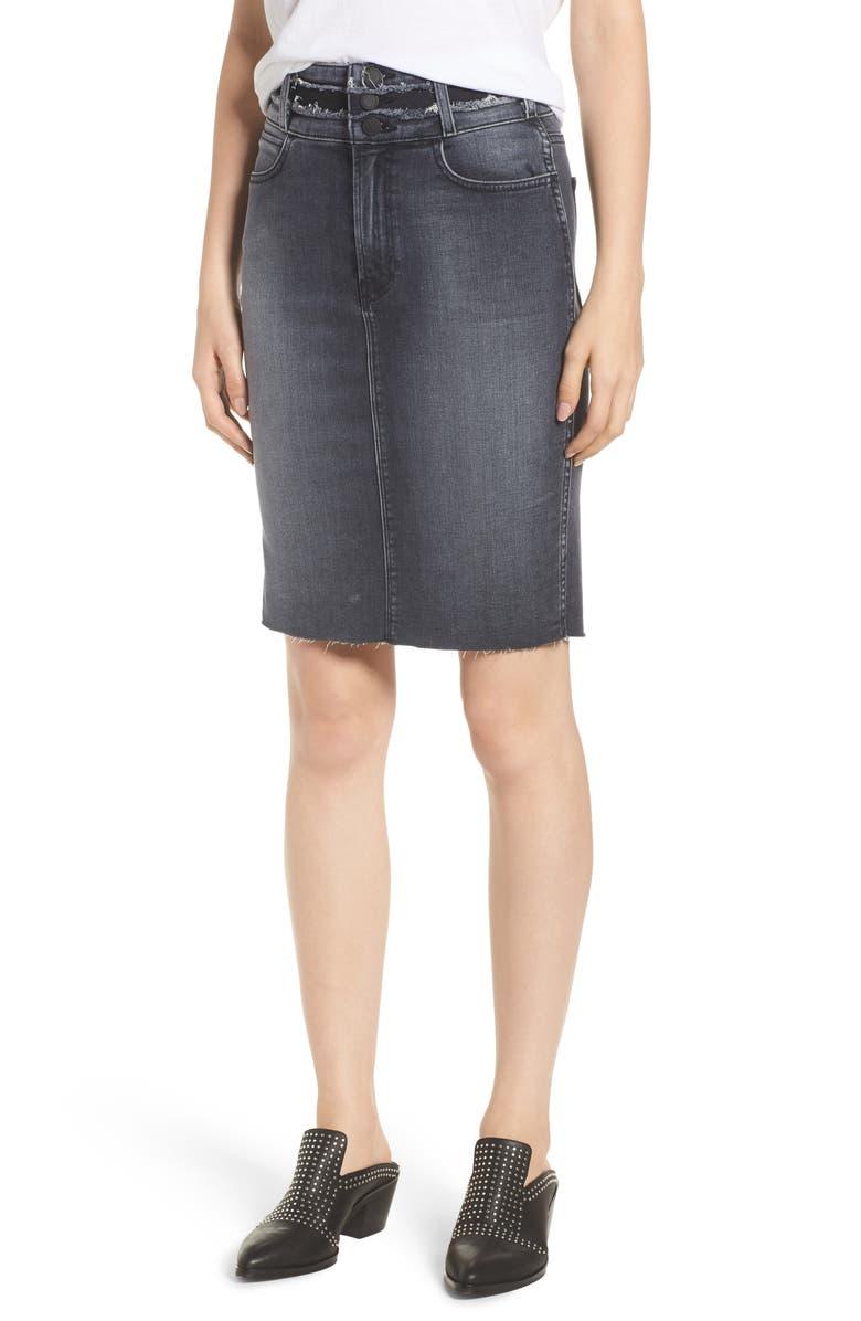 Helena High Waist Denim Pencil Skirt