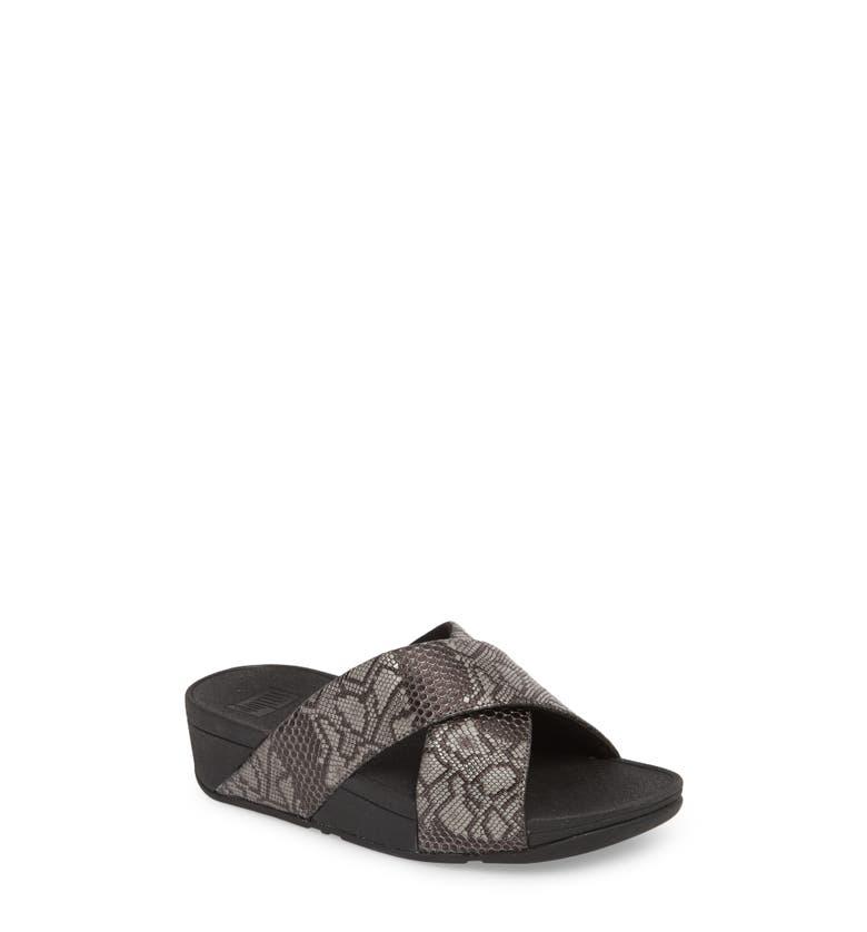 1215d81963382 Fitflop Lulu Slide Sandal In Black Leather