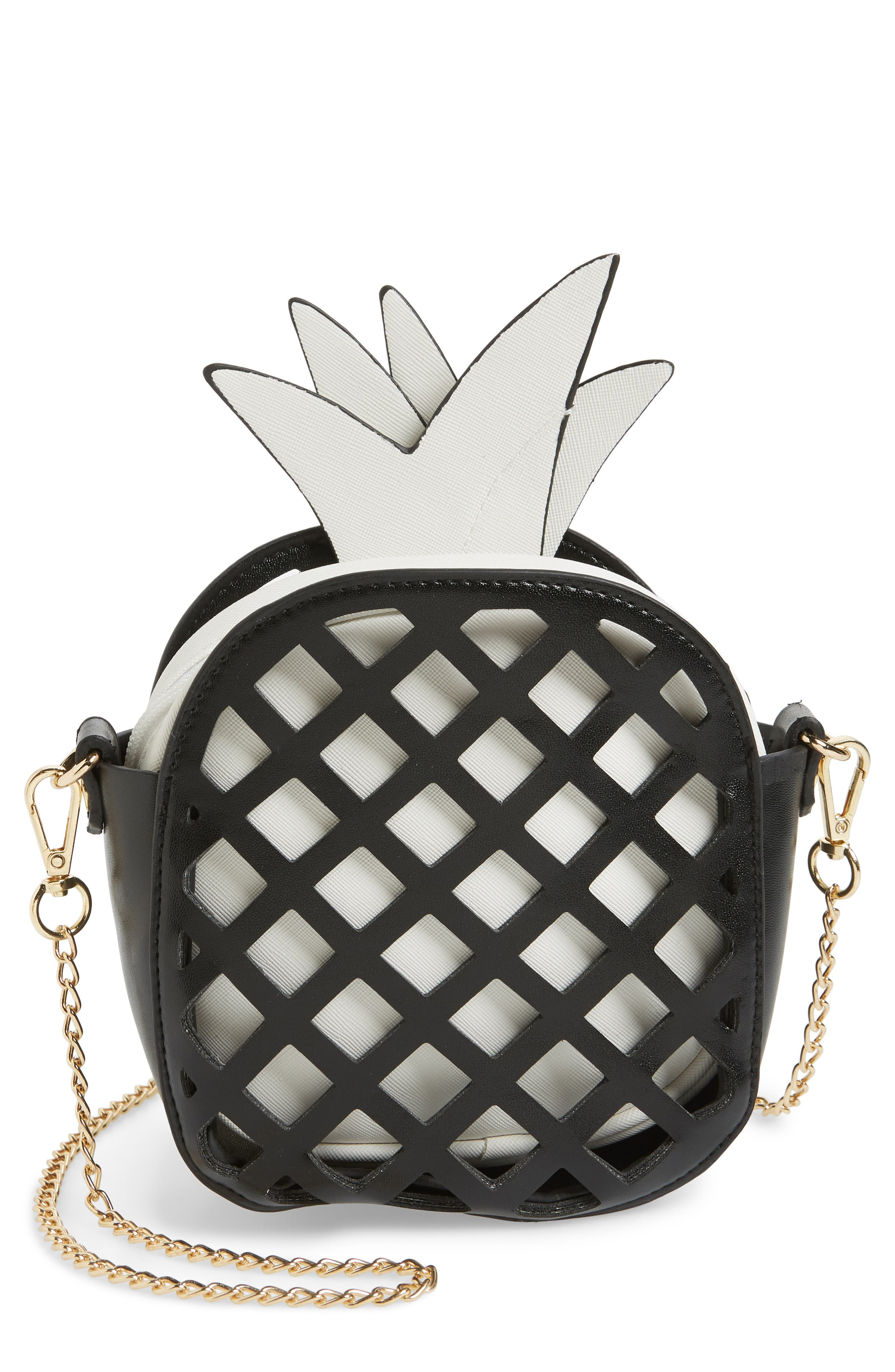 Capelli New York Cutout Pineapple Crossbody Bag (Kids)