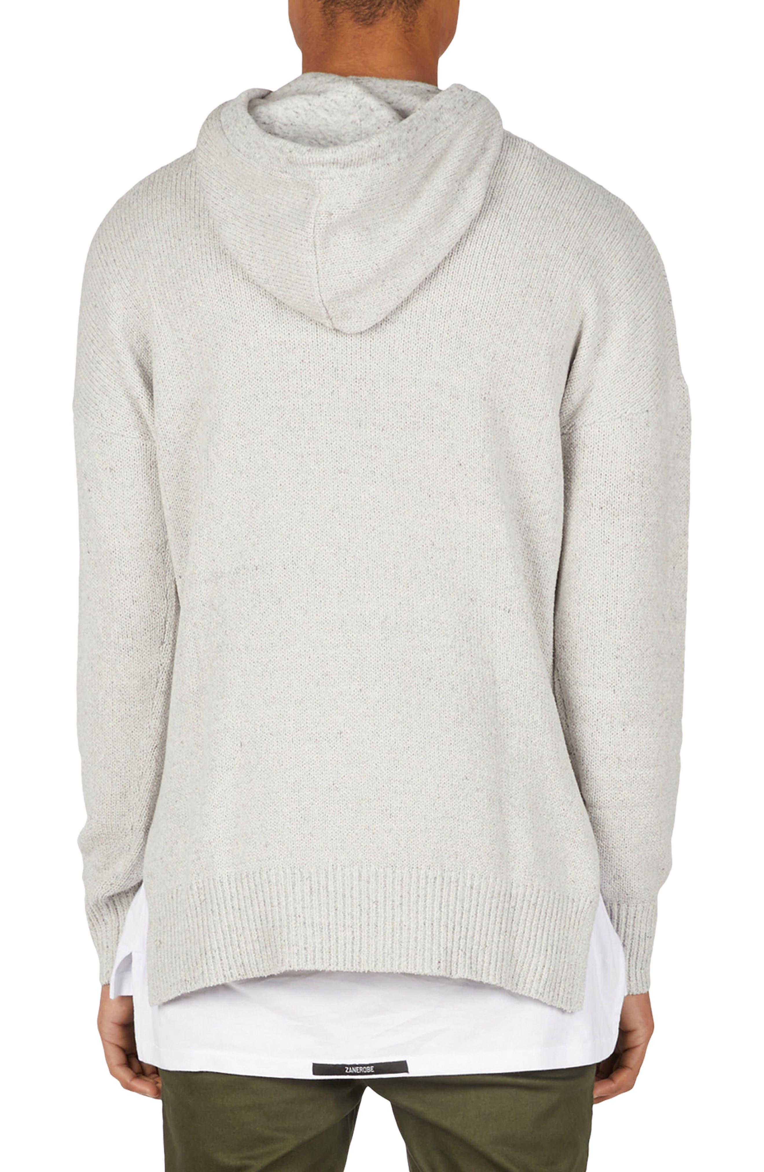 Towel Knit Hooded Sweatshirt,                             Alternate thumbnail 2, color,                             Grey