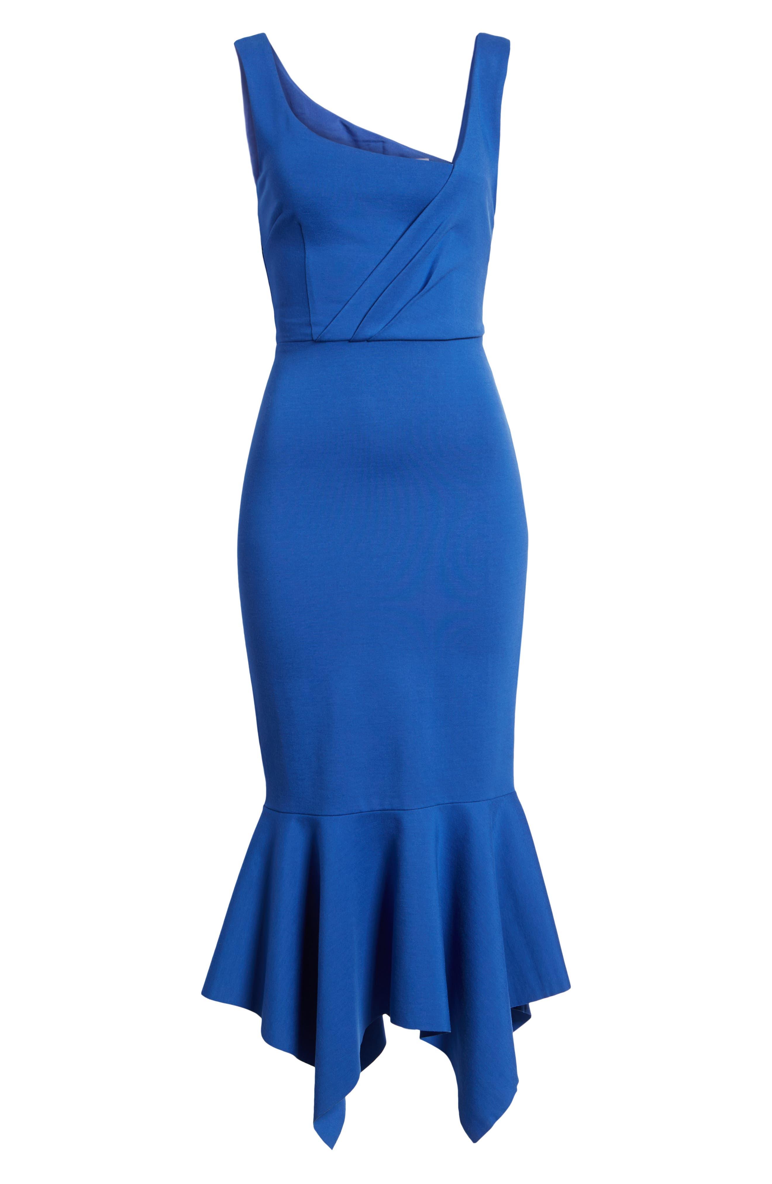 Viola Asymmetrical Dress,                             Alternate thumbnail 7, color,                             Cobalt