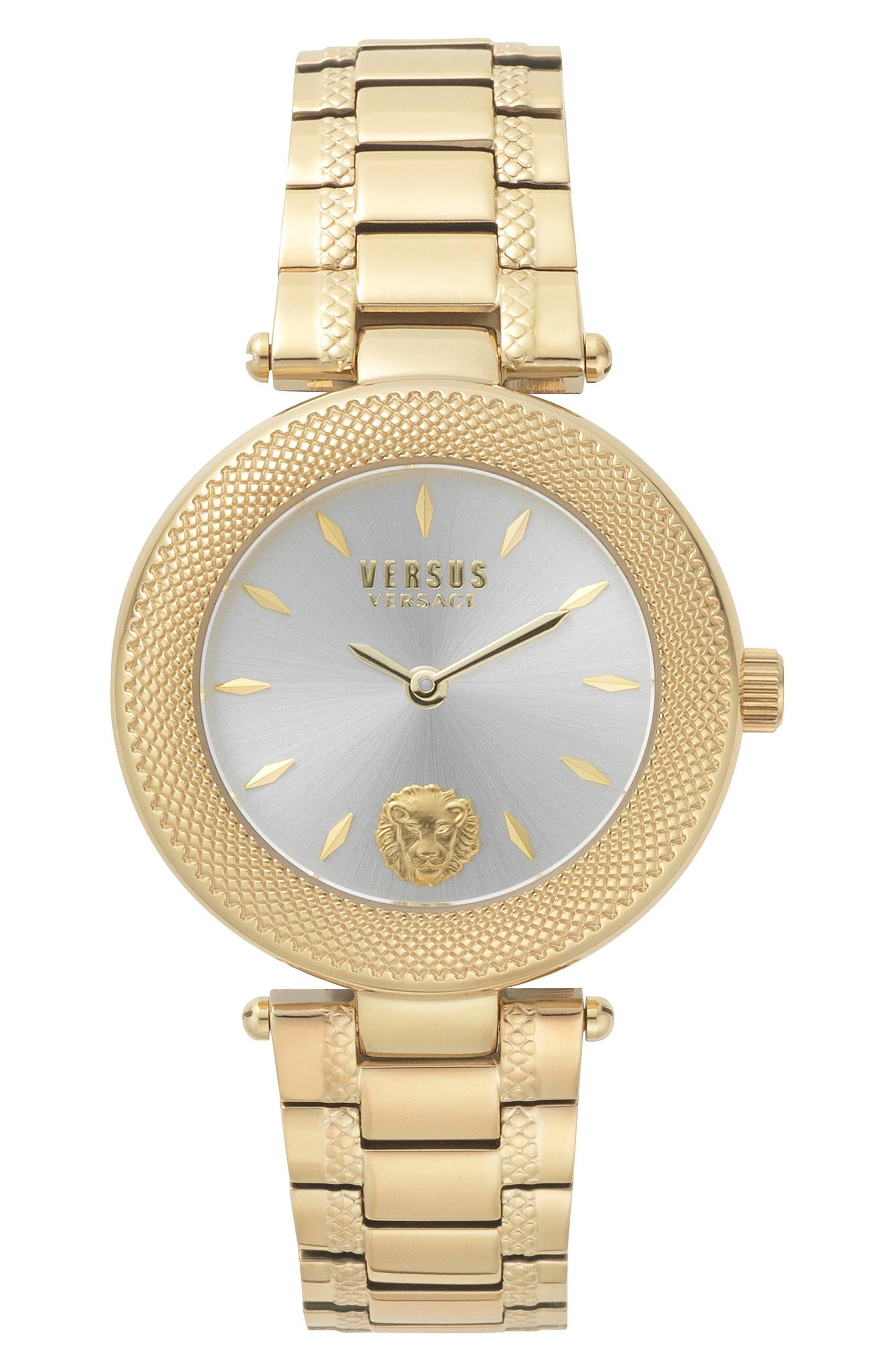 VERSUS by Versace Bricklane Watch Set, 36mm,                         Main,                         color, Gold/ Silver