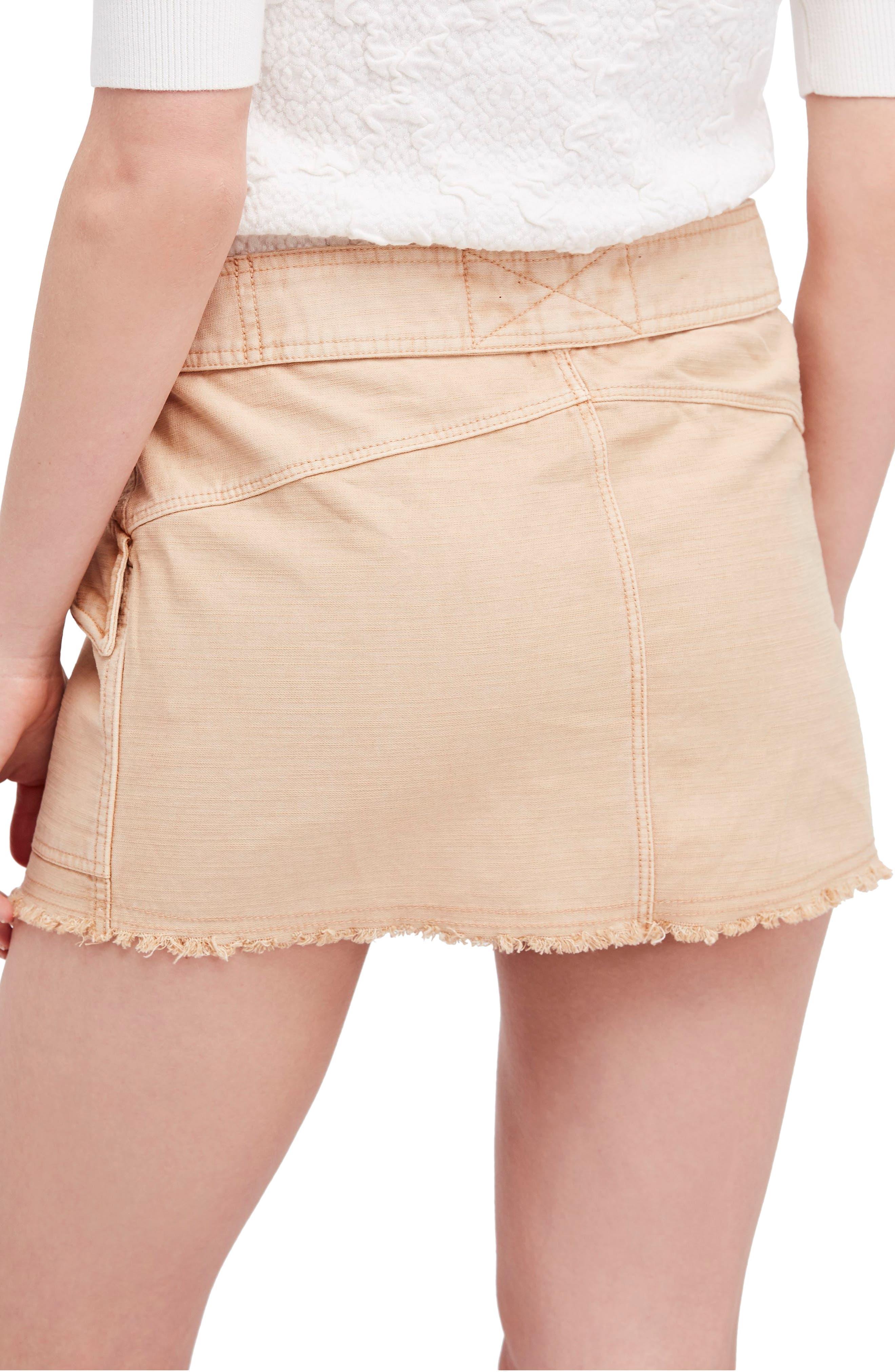 Hangin' On Tight Miniskirt,                             Alternate thumbnail 5, color,                             Nude