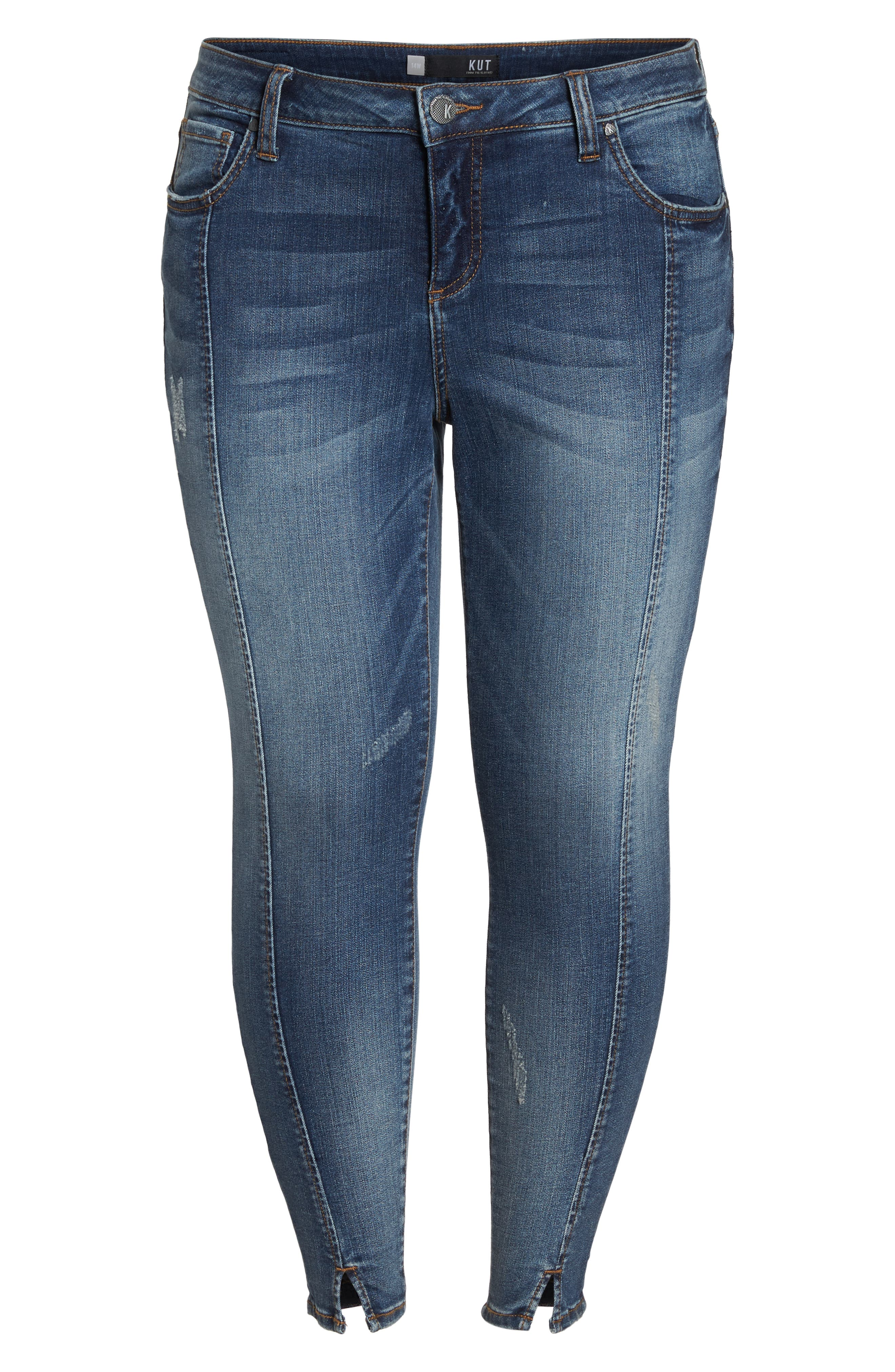 Reese Seam Ankle Skinny Jeans,                             Alternate thumbnail 3, color,                             Poetic