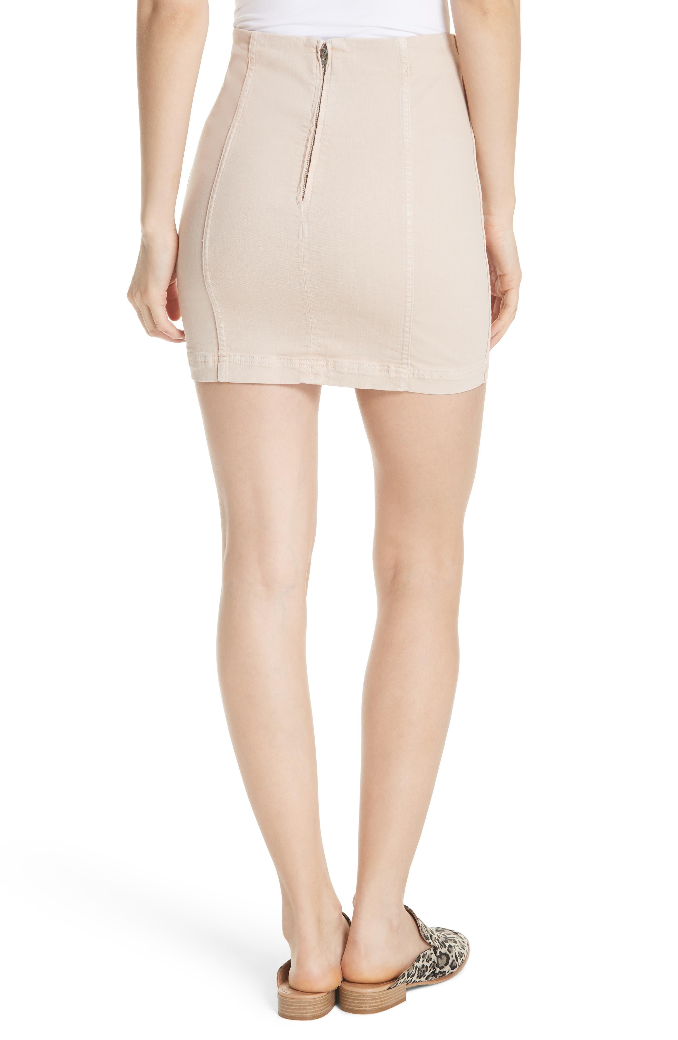 Modern Femme Miniskirt,                             Alternate thumbnail 2, color,                             Stone