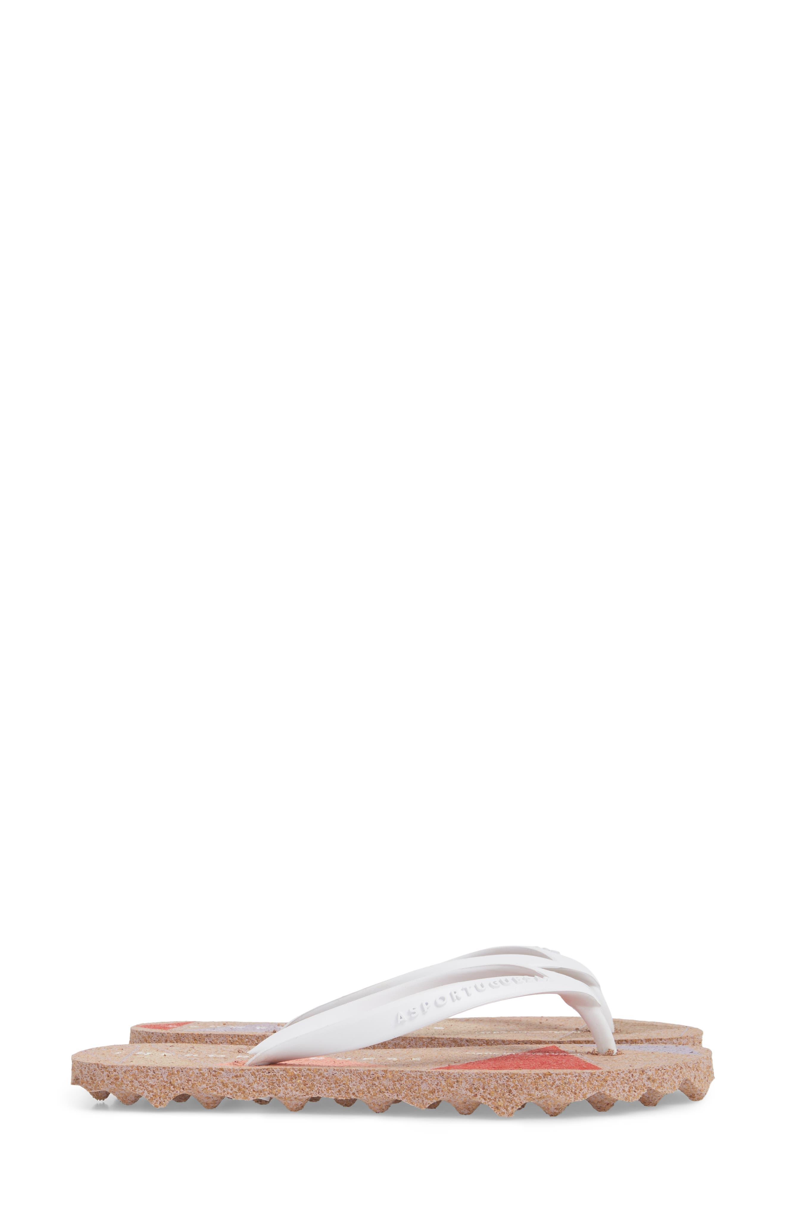 Spot 002 Flip Flop,                             Alternate thumbnail 4, color,                             White/ Rose Fabric