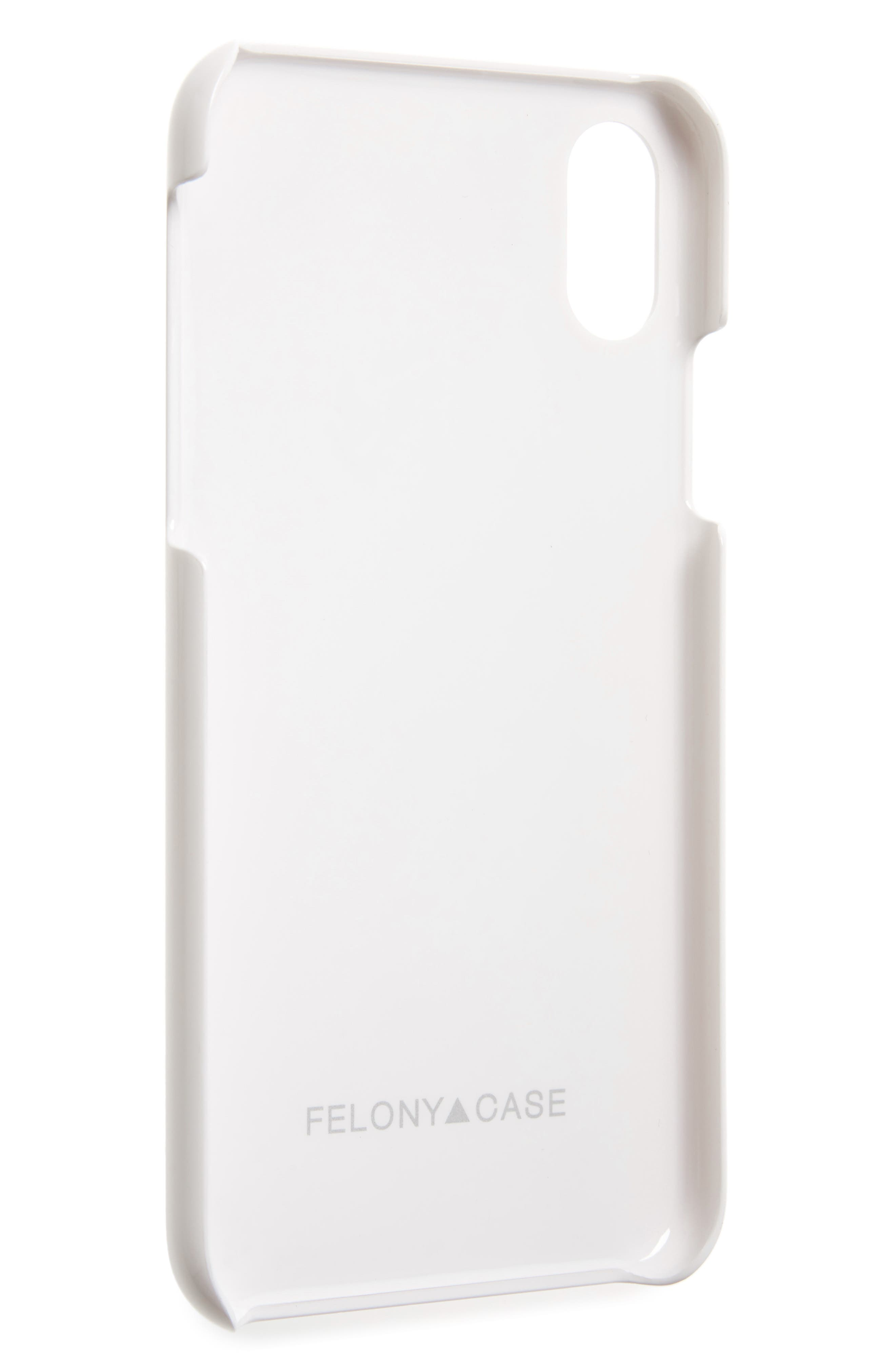 Genuine White Marble iPhone X Case,                             Alternate thumbnail 2, color,                             White