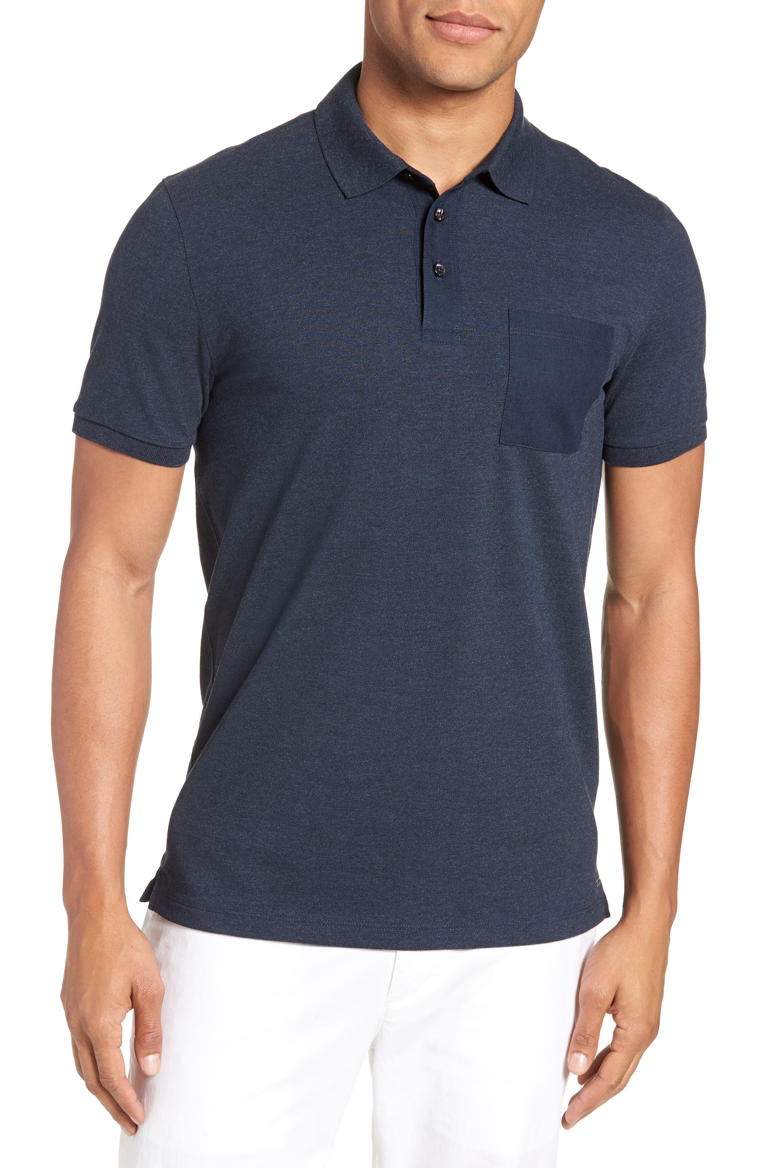 Penrose Polo Shirt,                         Main,                         color, Blue