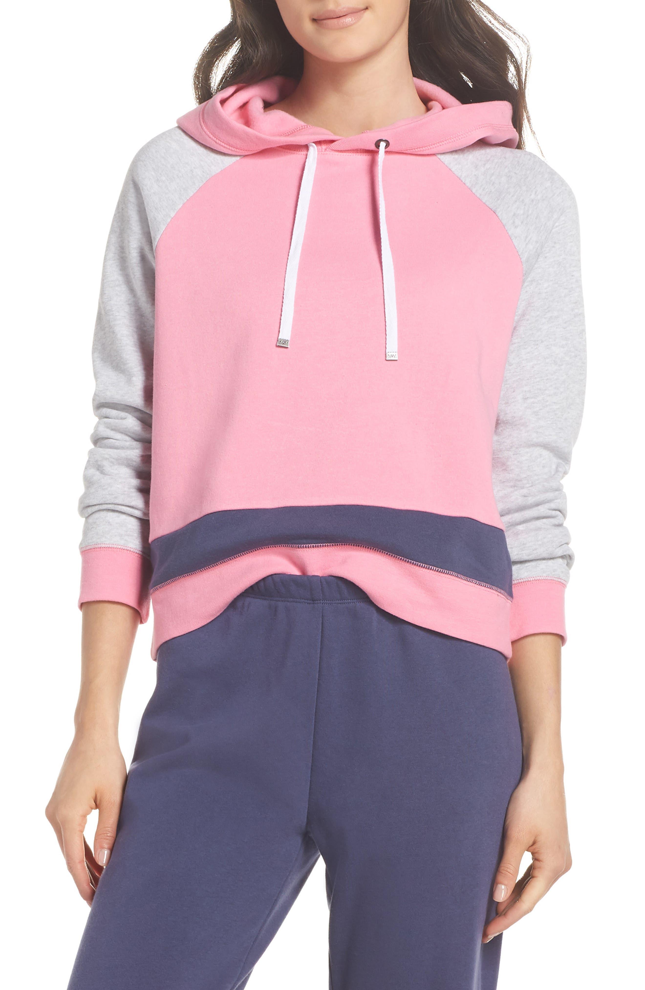 Sleepy Fleece Hoodie,                         Main,                         color, Pink Sachet