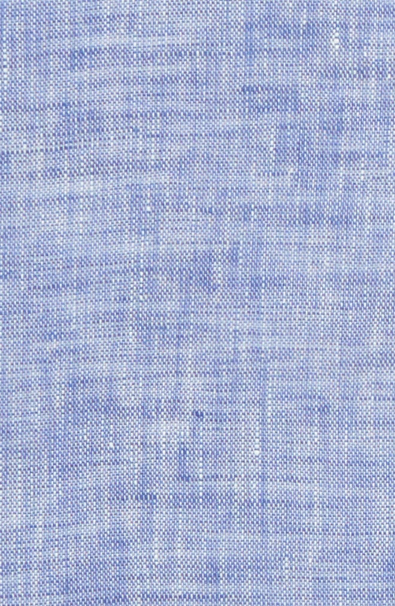 South End Linen Pocket Square,                             Alternate thumbnail 3, color,                             Blue