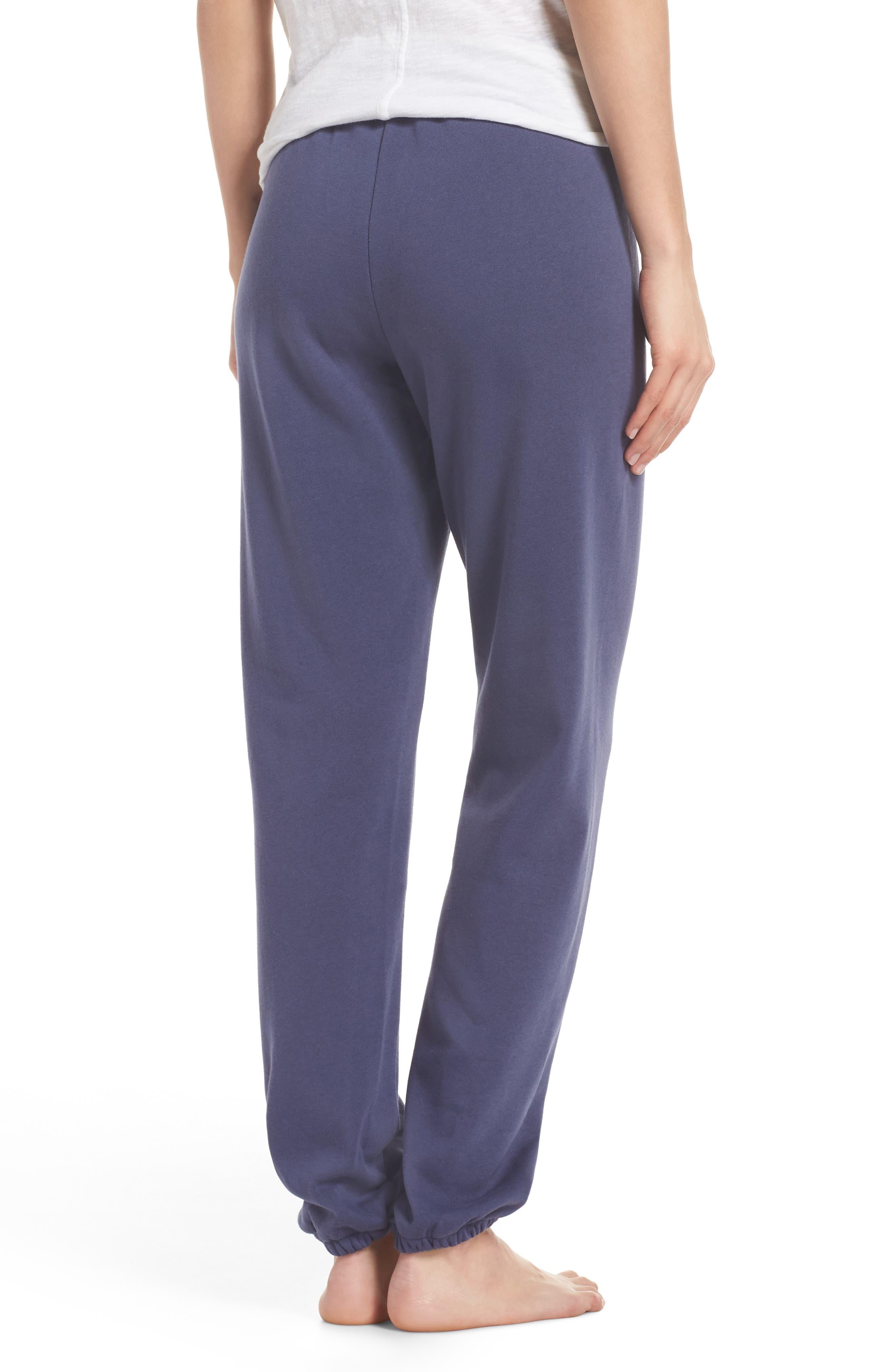 Sleepy High Rise Lounge Jogger Pants,                             Alternate thumbnail 3, color,                             Blue Indigo