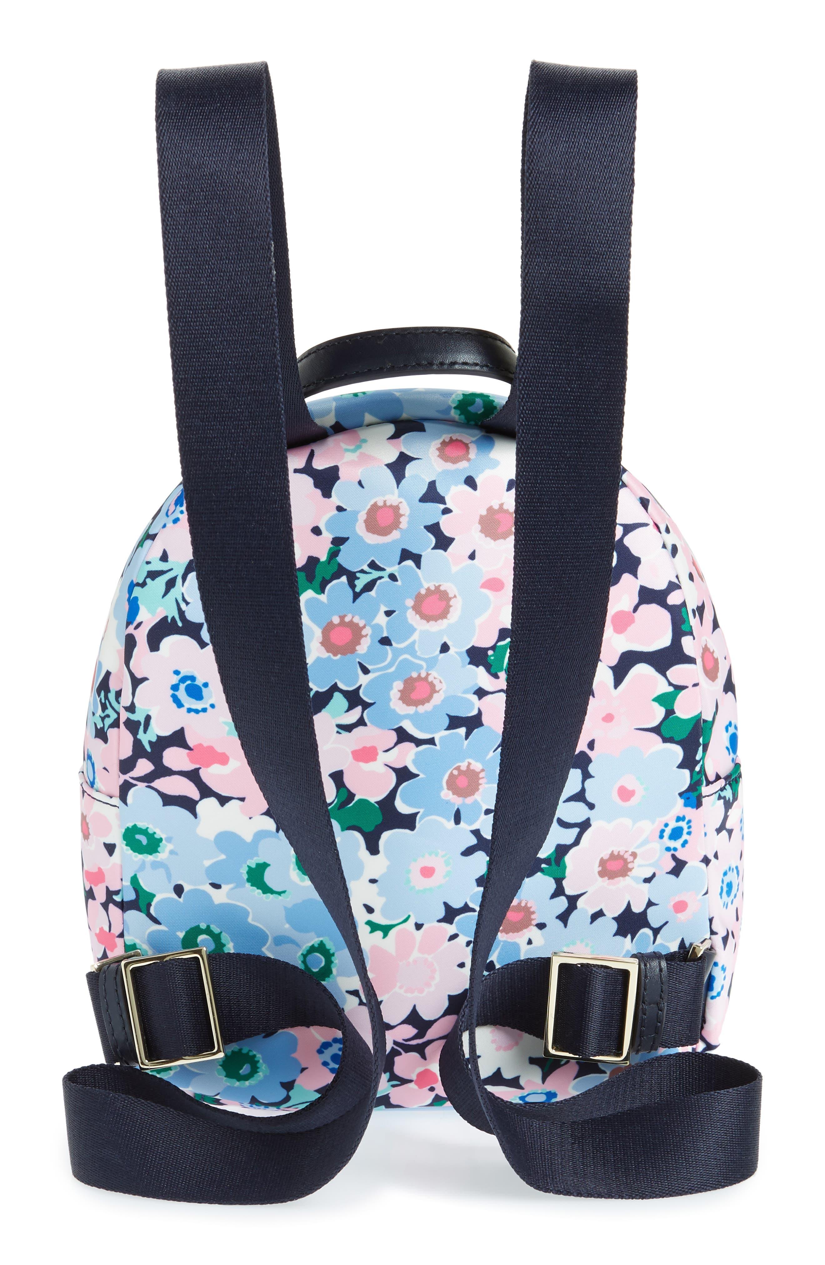 watson lane - daisy garden small hartley backpack,                             Alternate thumbnail 3, color,                             Blue Multi