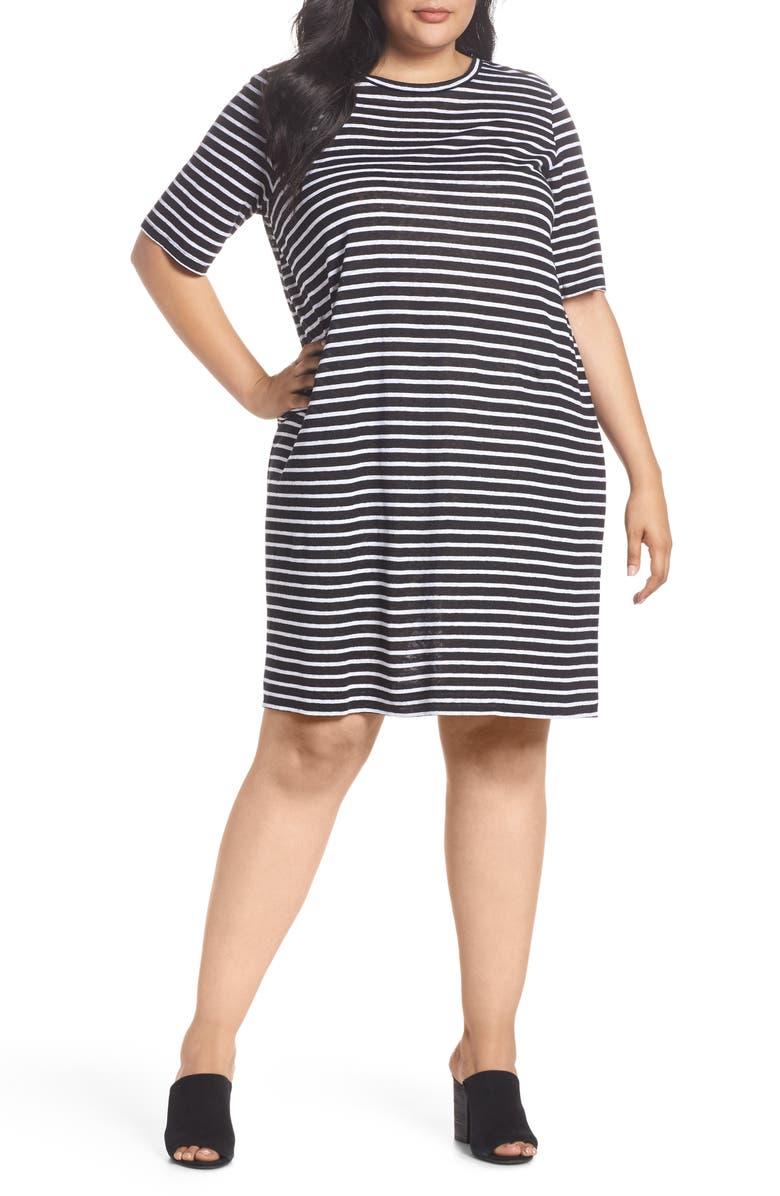 Stripe Linen T-Shirt Dress