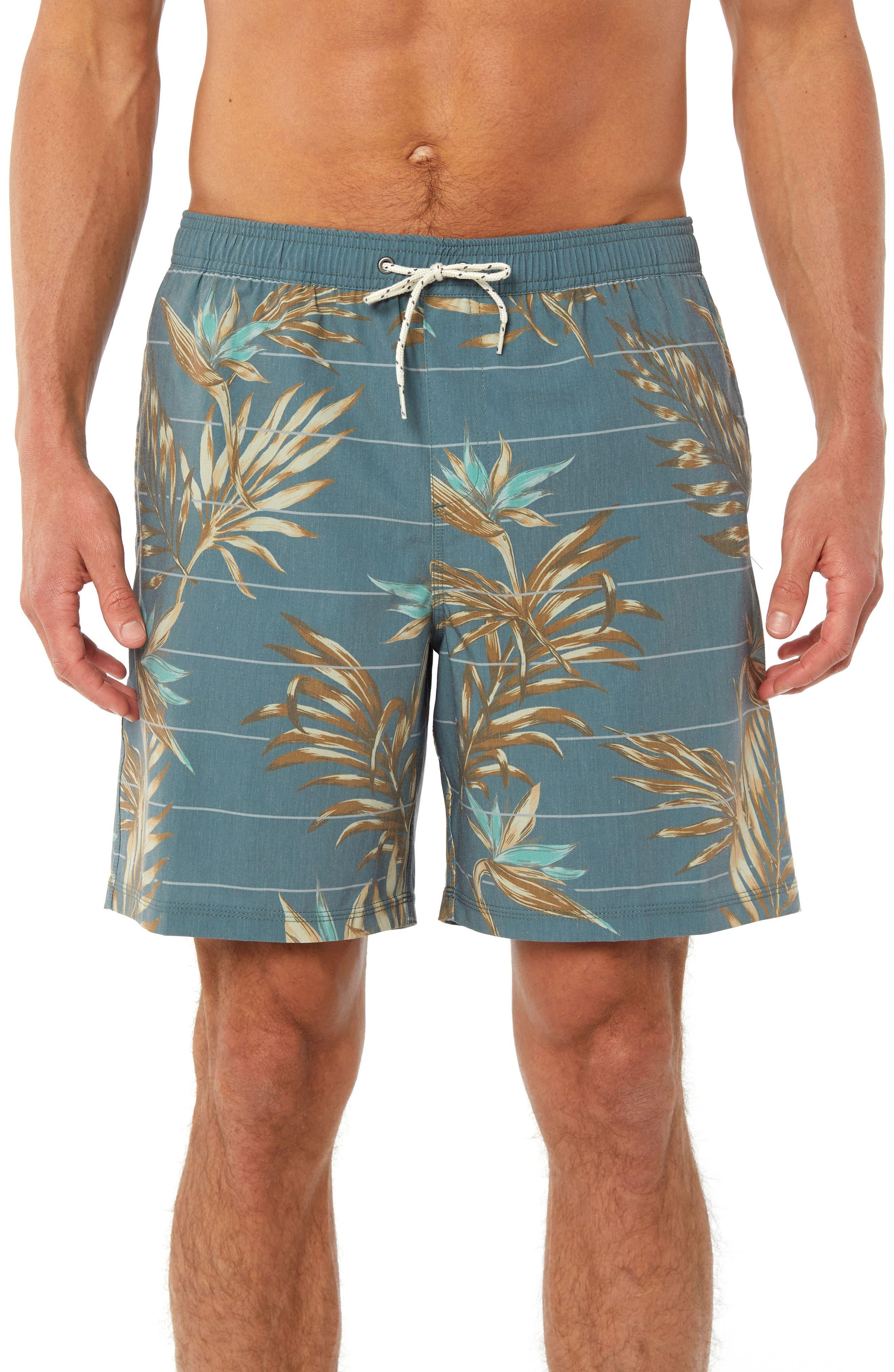 Paradise Volley Board Shorts,                         Main,                         color, Dark Sea Glass