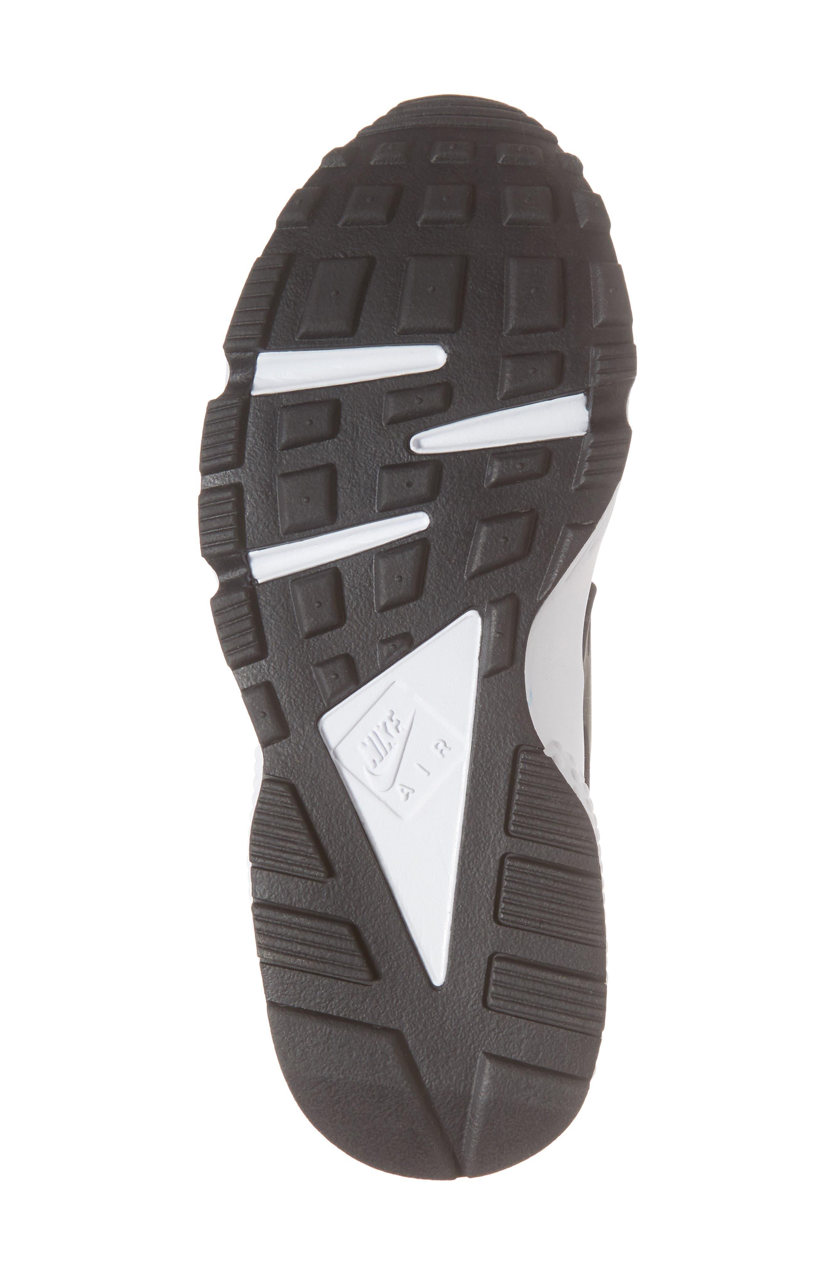 Air Huarache Run Sneaker,                             Alternate thumbnail 6, color,                             Grey/ Black/ Coral/ Nebula