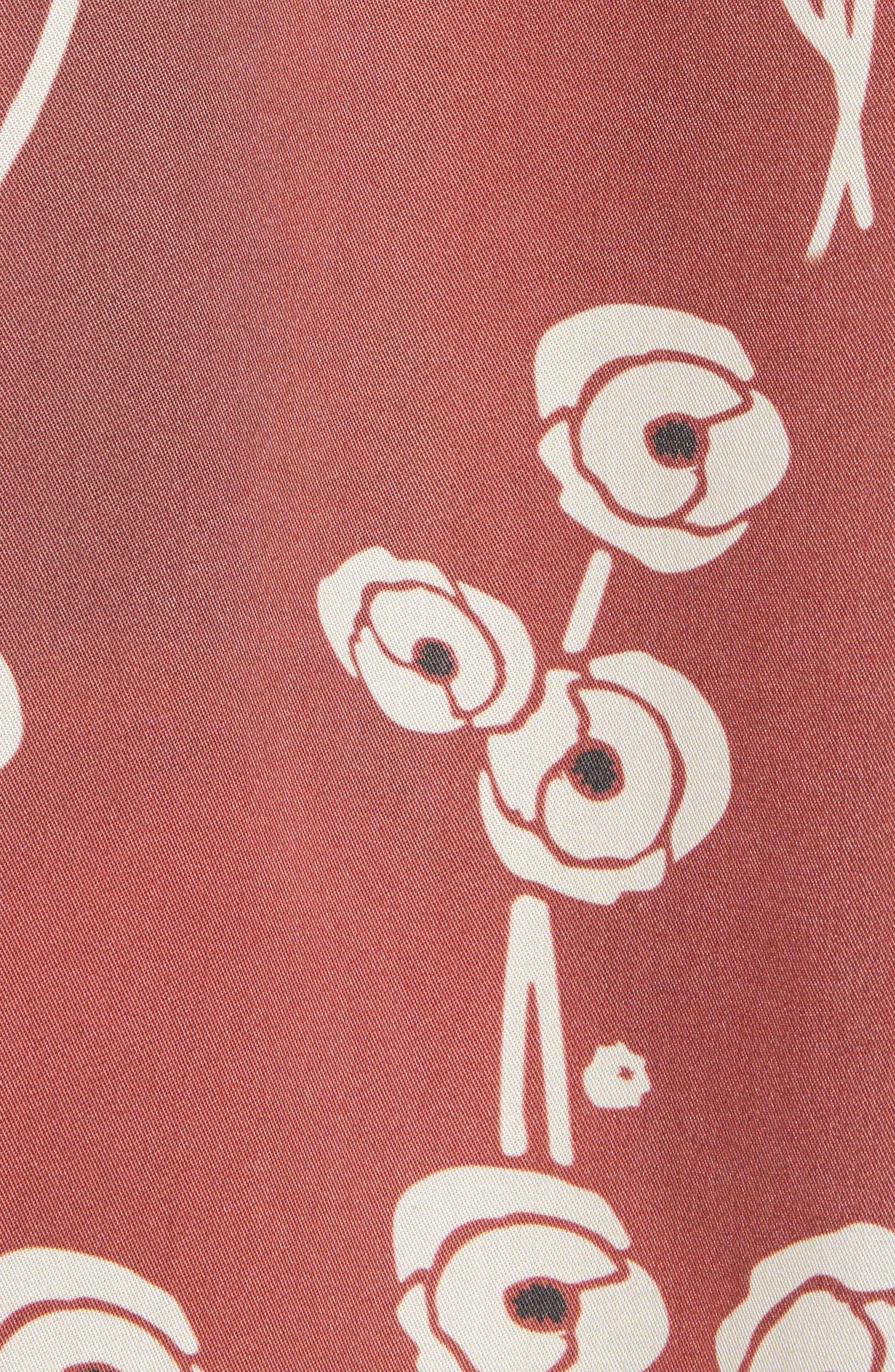 Canty Poppy Woven Shirt,                             Alternate thumbnail 3, color,                             Brick