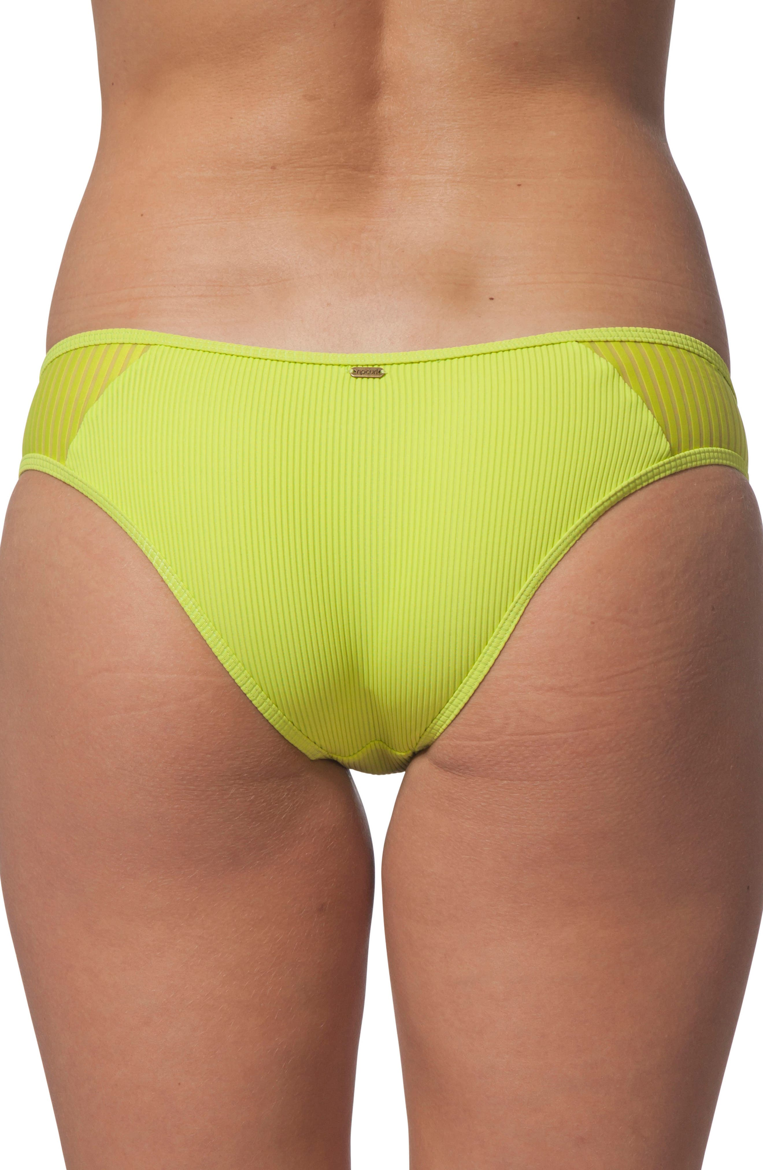 Designer Surf Hipster Bikini Bottoms,                             Alternate thumbnail 2, color,                             Neon Lime
