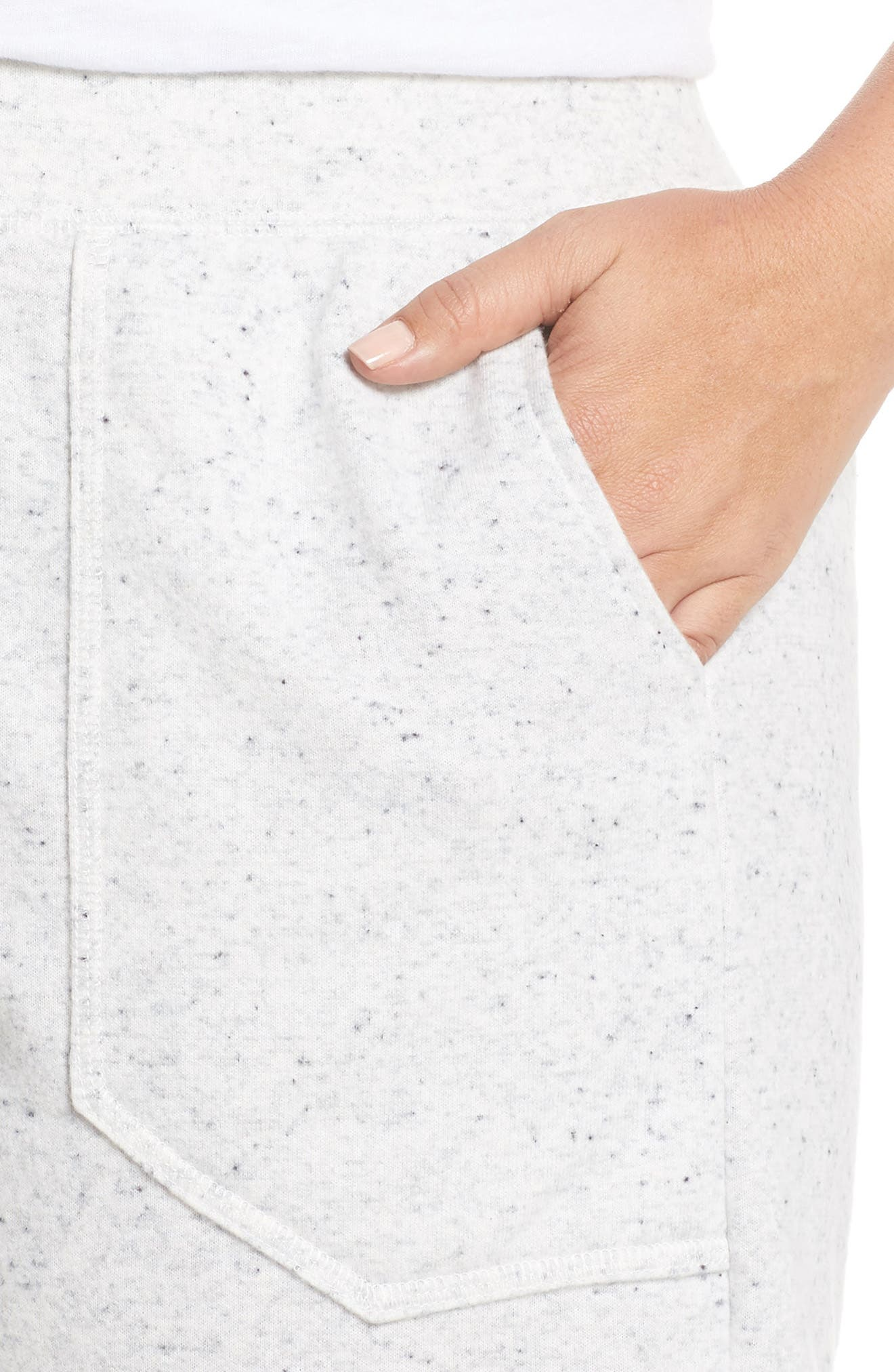French Terry Shorts,                             Alternate thumbnail 4, color,                             Grey Heather