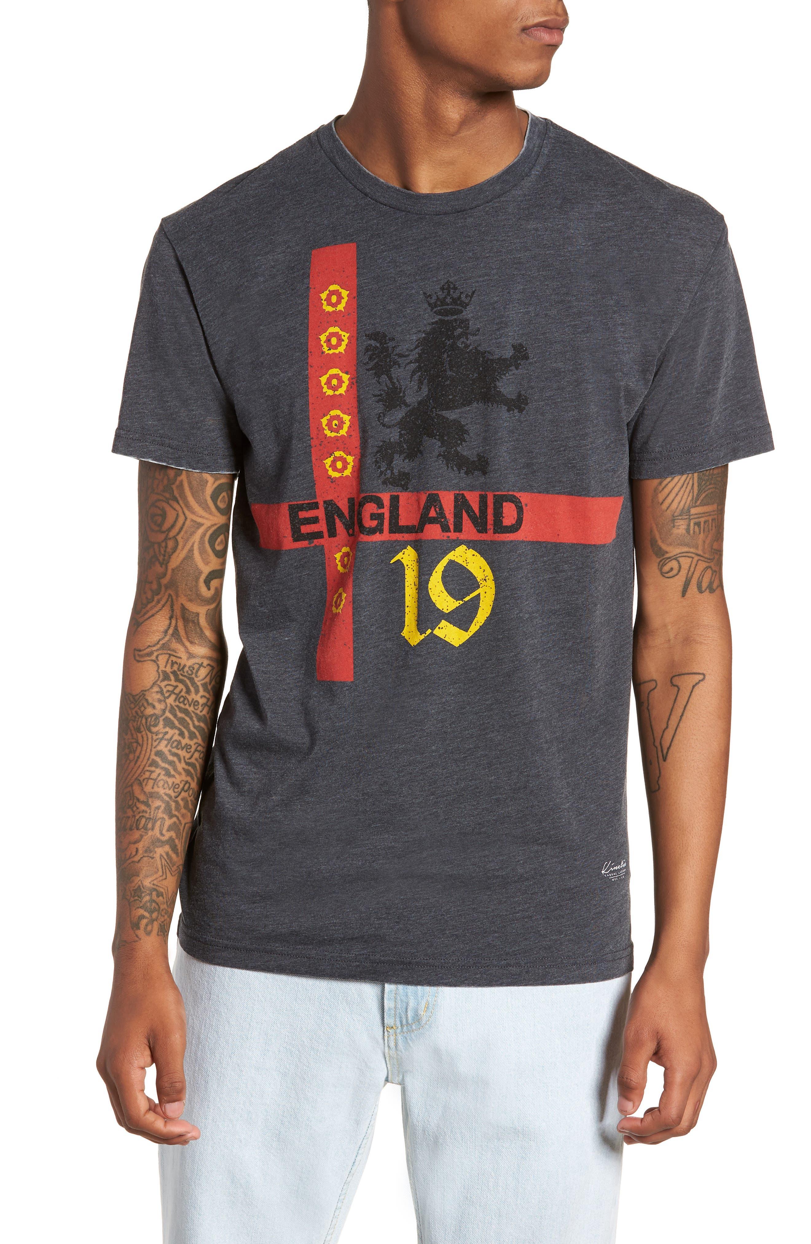England T-Shirt,                         Main,                         color, Grey