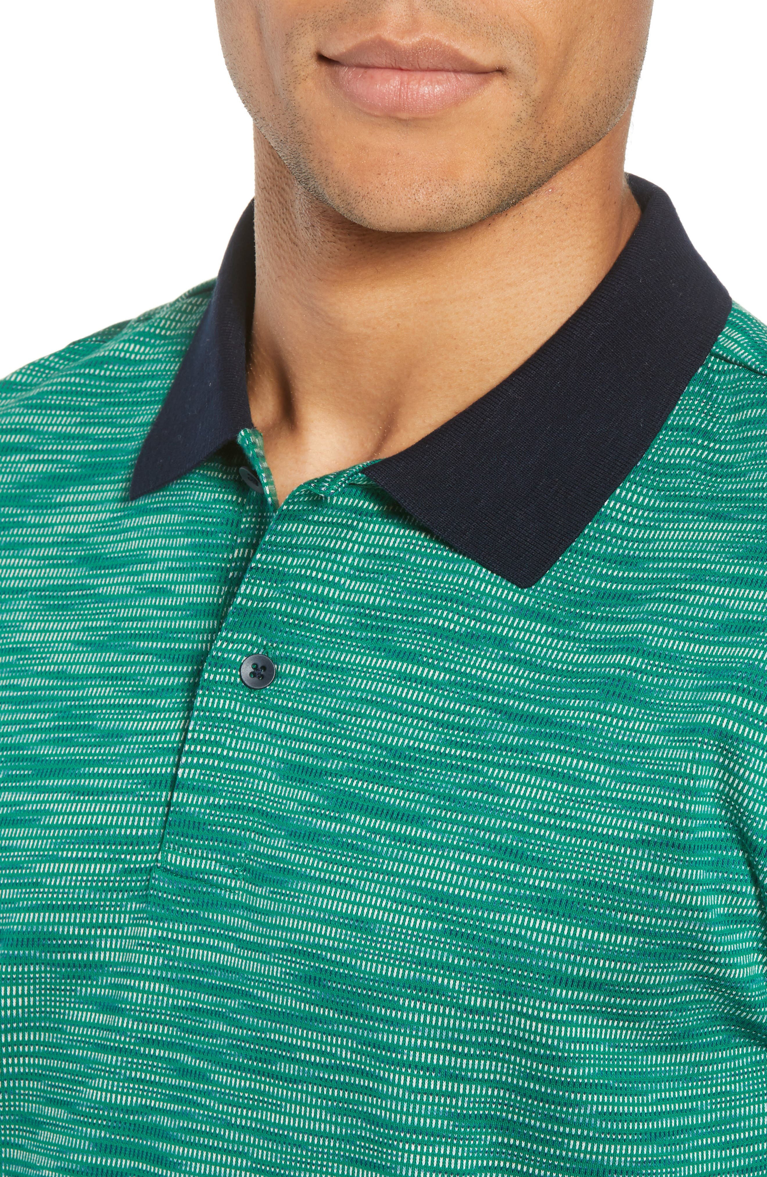 Tay Street Regular Fit Polo,                             Alternate thumbnail 4, color,                             Emerald