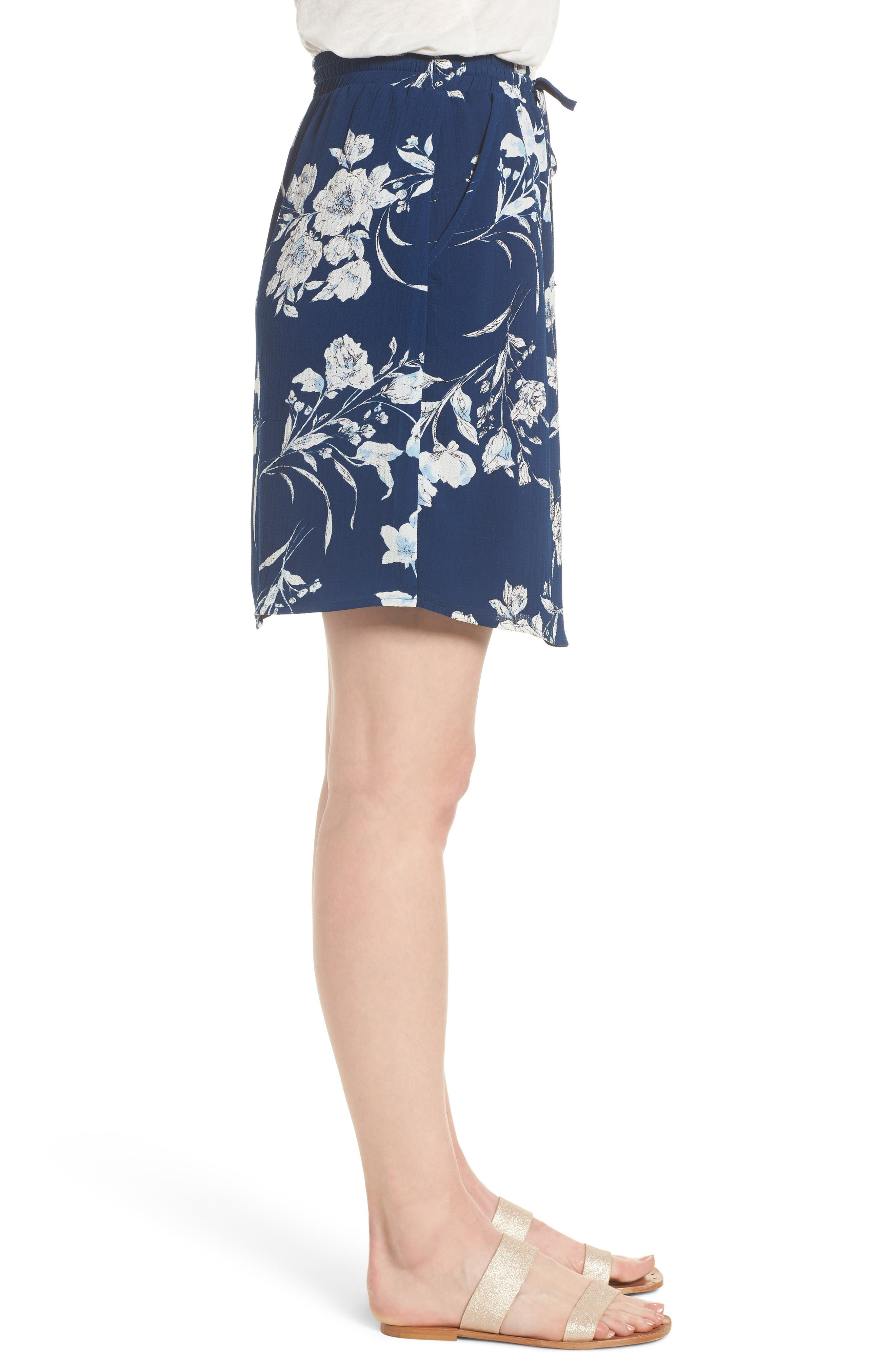 x Hi Sugarplum! Monterey Easy Skirt,                             Alternate thumbnail 4, color,                             Cool Breeze Floral