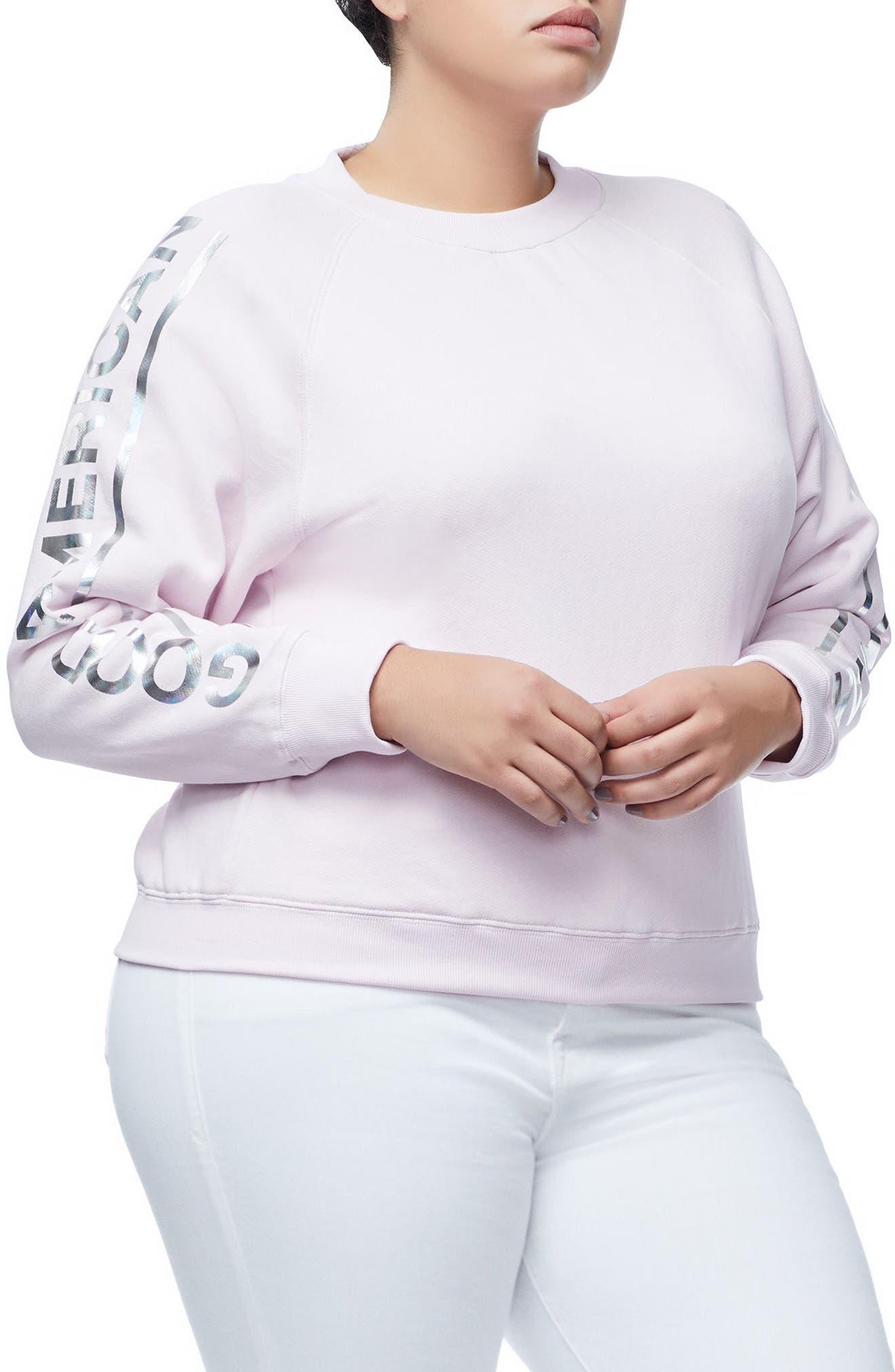 Crewneck Sweatshirt,                             Alternate thumbnail 3, color,                             Pink