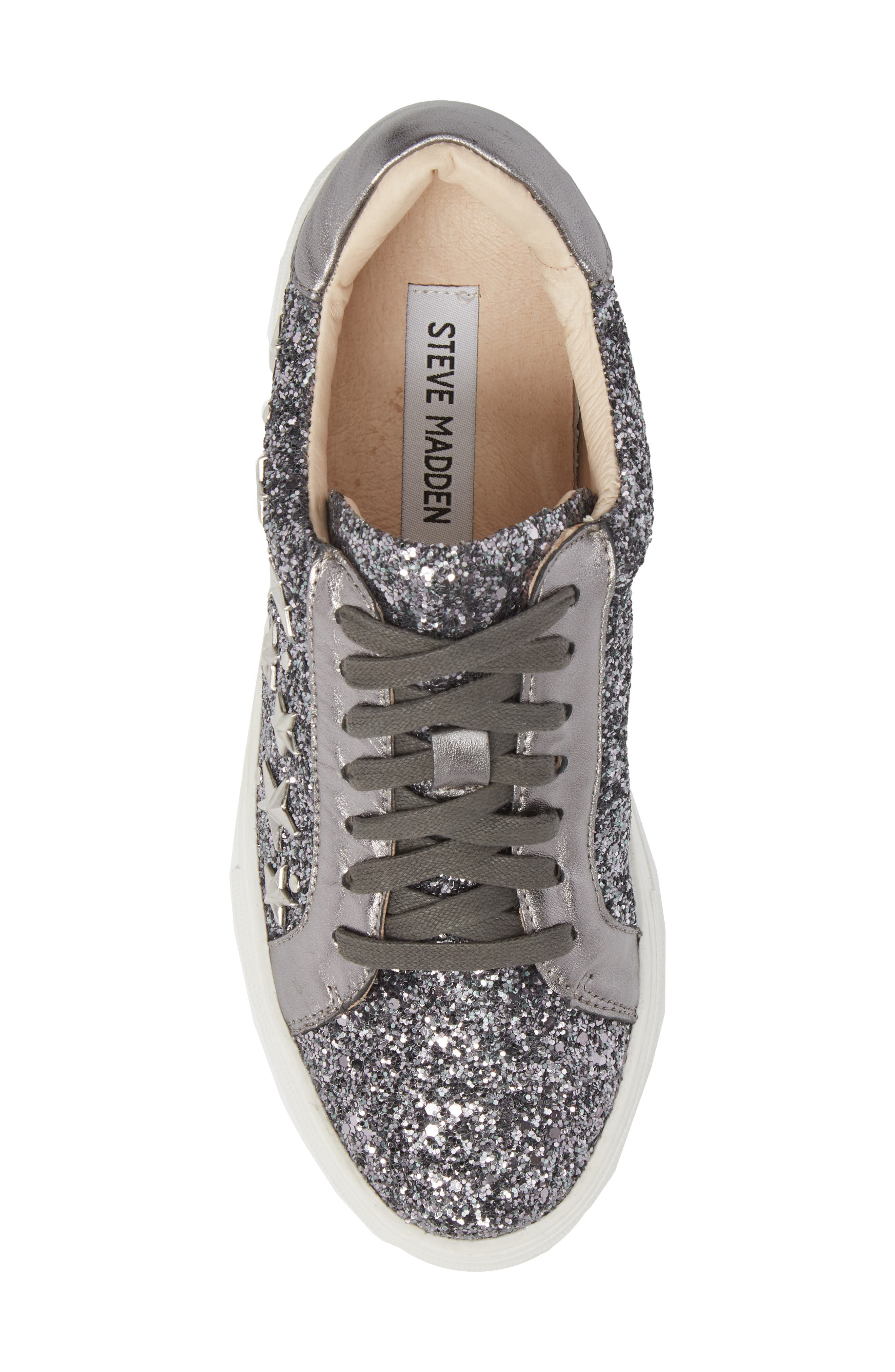 Active Star Platform Sneaker,                             Alternate thumbnail 5, color,                             Pewter Glitter