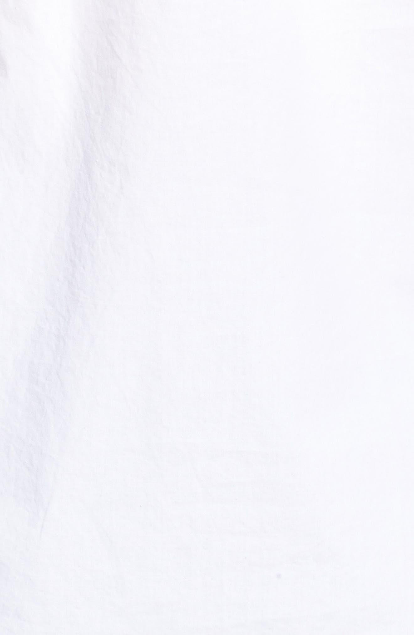 Hoax Off the Shoulder Cotton Poplin Top,                             Alternate thumbnail 5, color,                             White