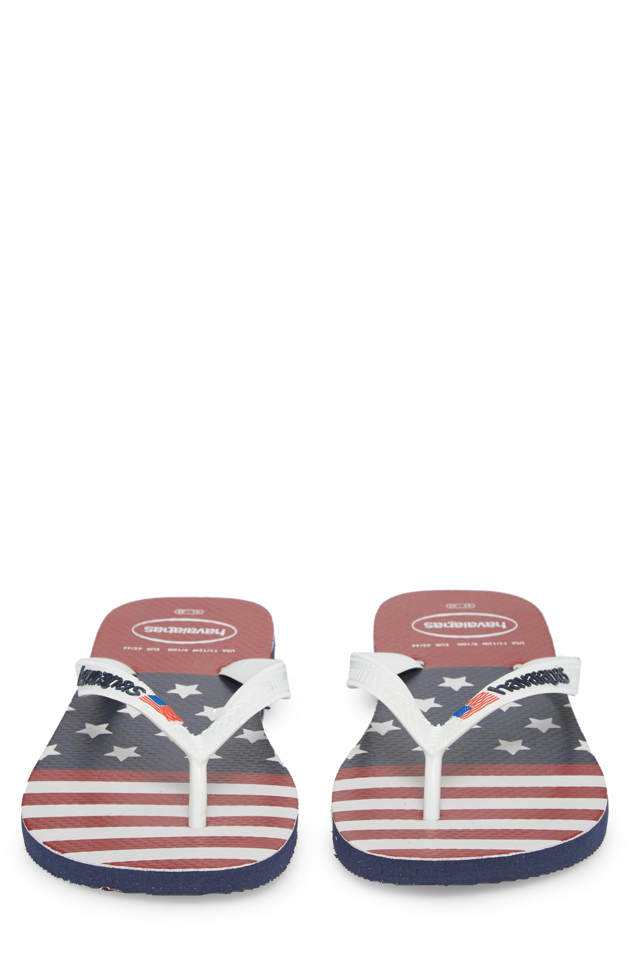 USA Stars & Stripes Flip Flop,                             Alternate thumbnail 5, color,                             Navy Blue