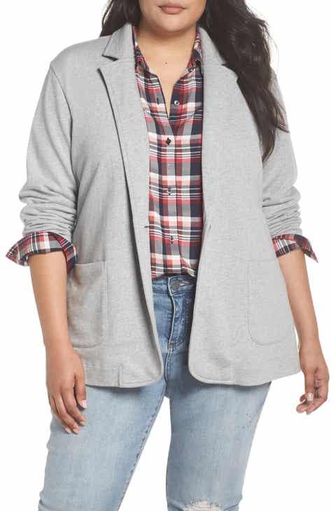 b6117fe3e85 Caslon® Double Pocket Knit Blazer (Plus Size)