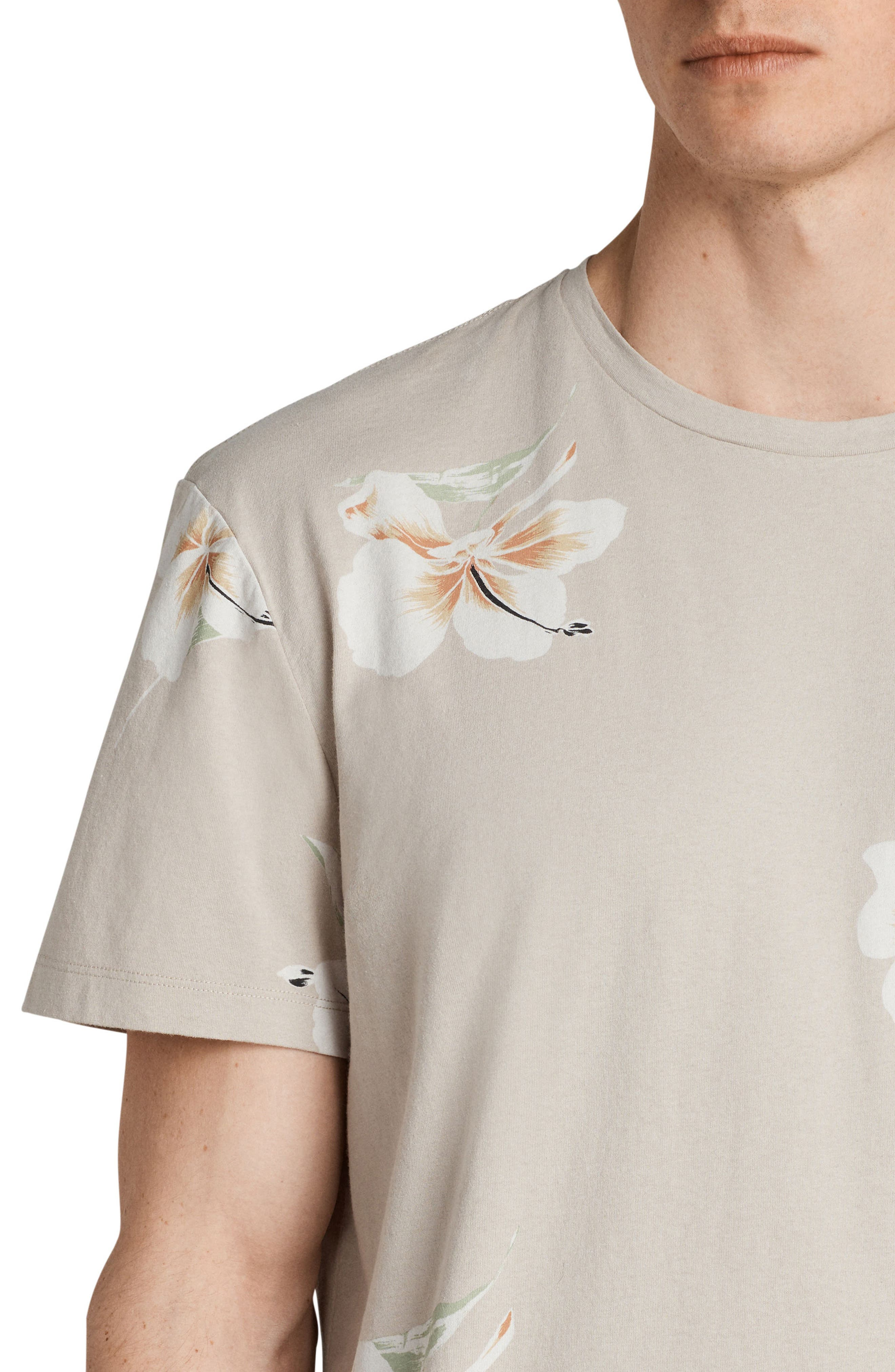 Lily Short Sleeve T-Shirt,                             Alternate thumbnail 4, color,                             Dark Grey